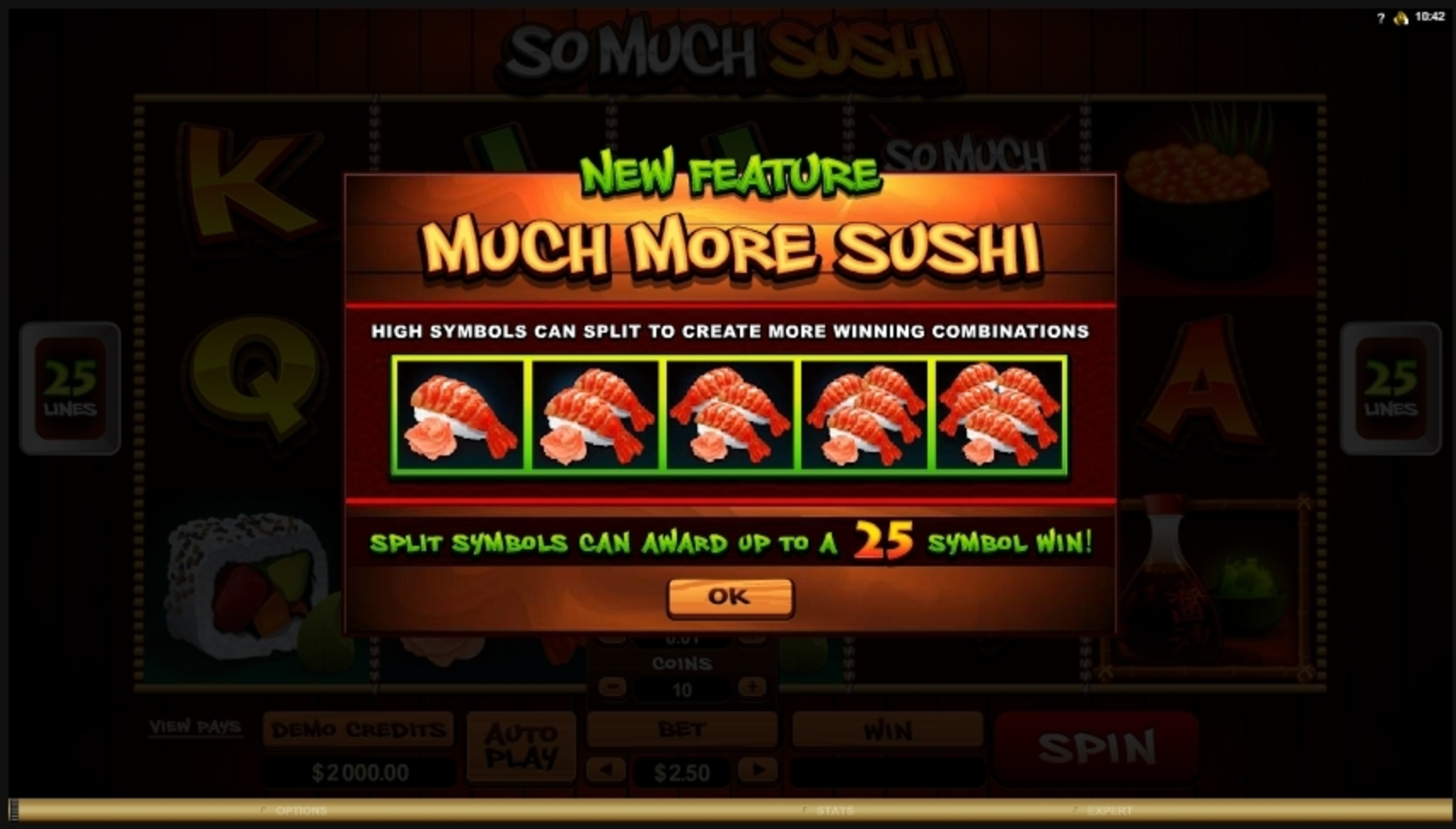 Play So Much Sushi Free Casino Slot Game by Microgaming
