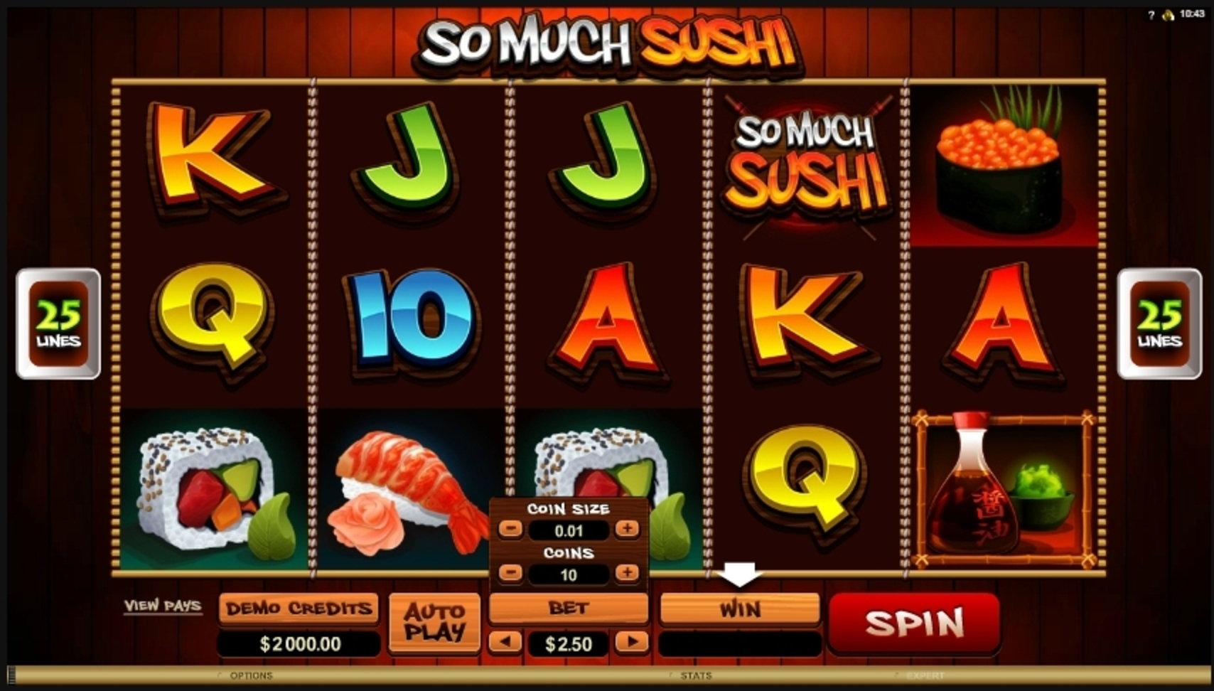 Reels in So Much Sushi Slot Game by Microgaming