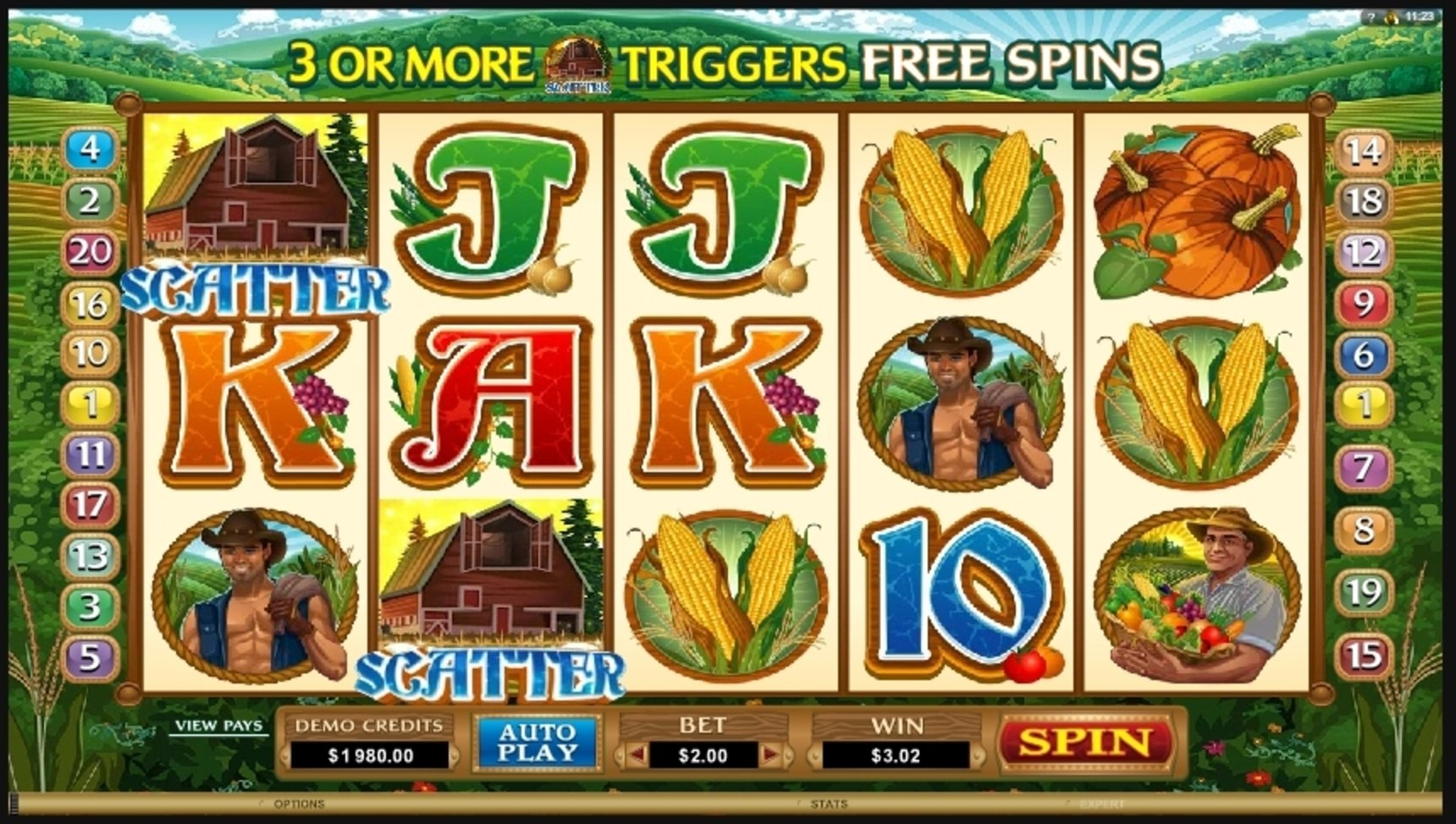 Win Money in Sweet Harvest Free Slot Game by Microgaming
