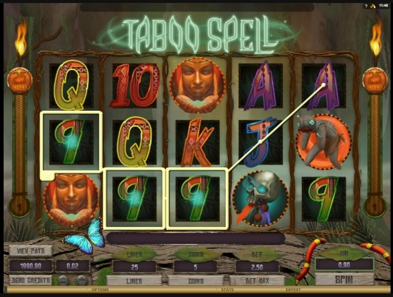 Win Money in Taboo Spell Free Slot Game by Microgaming