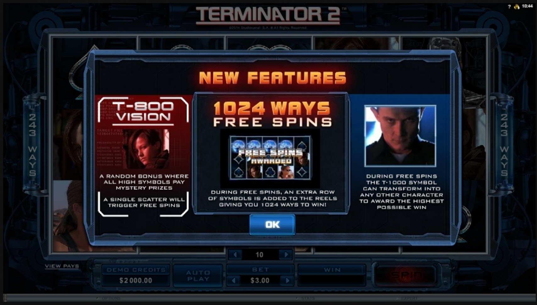 Play Terminator 2 Free Casino Slot Game by Microgaming