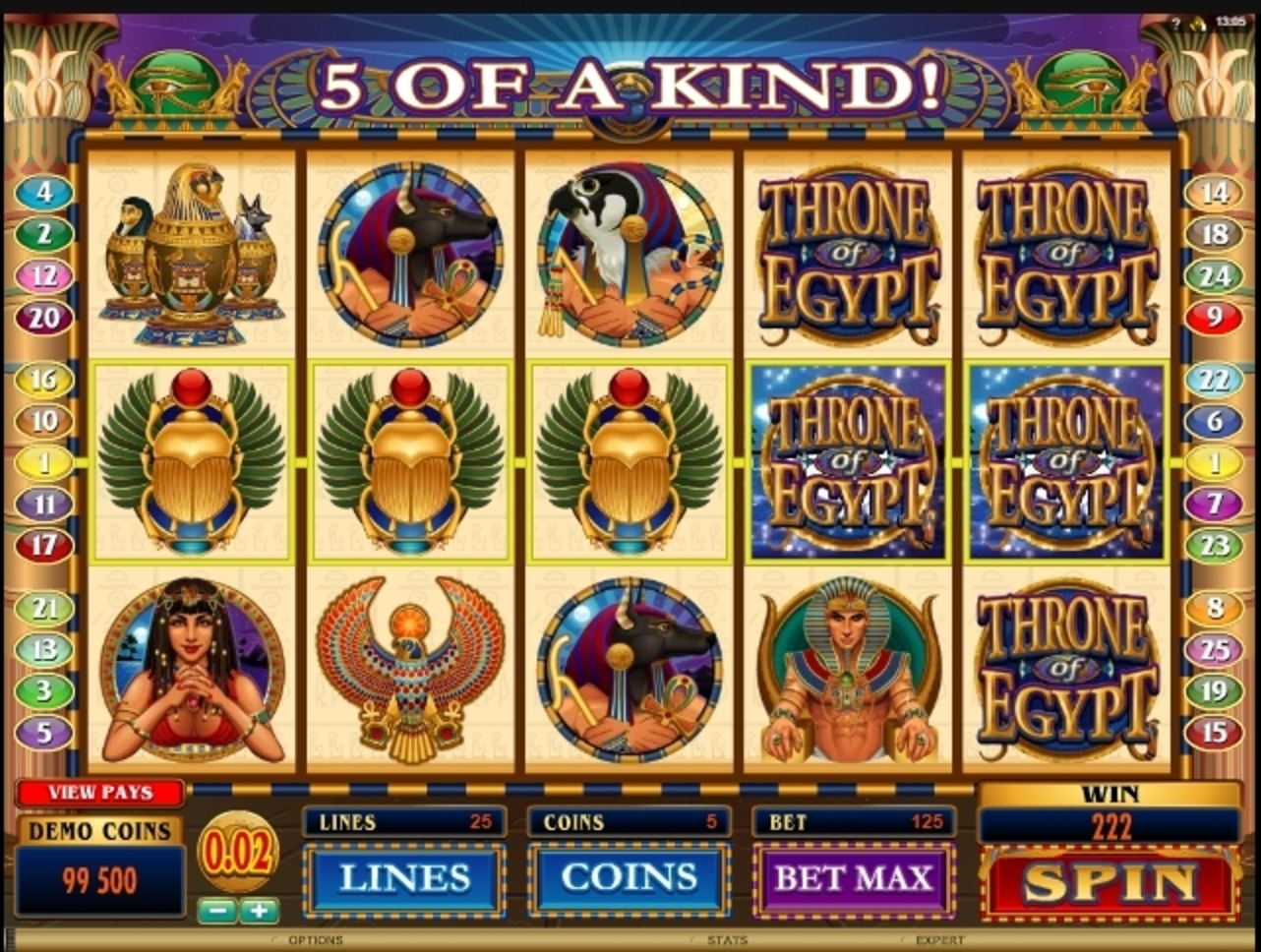 Win Money in Throne of Egypt Free Slot Game by Microgaming