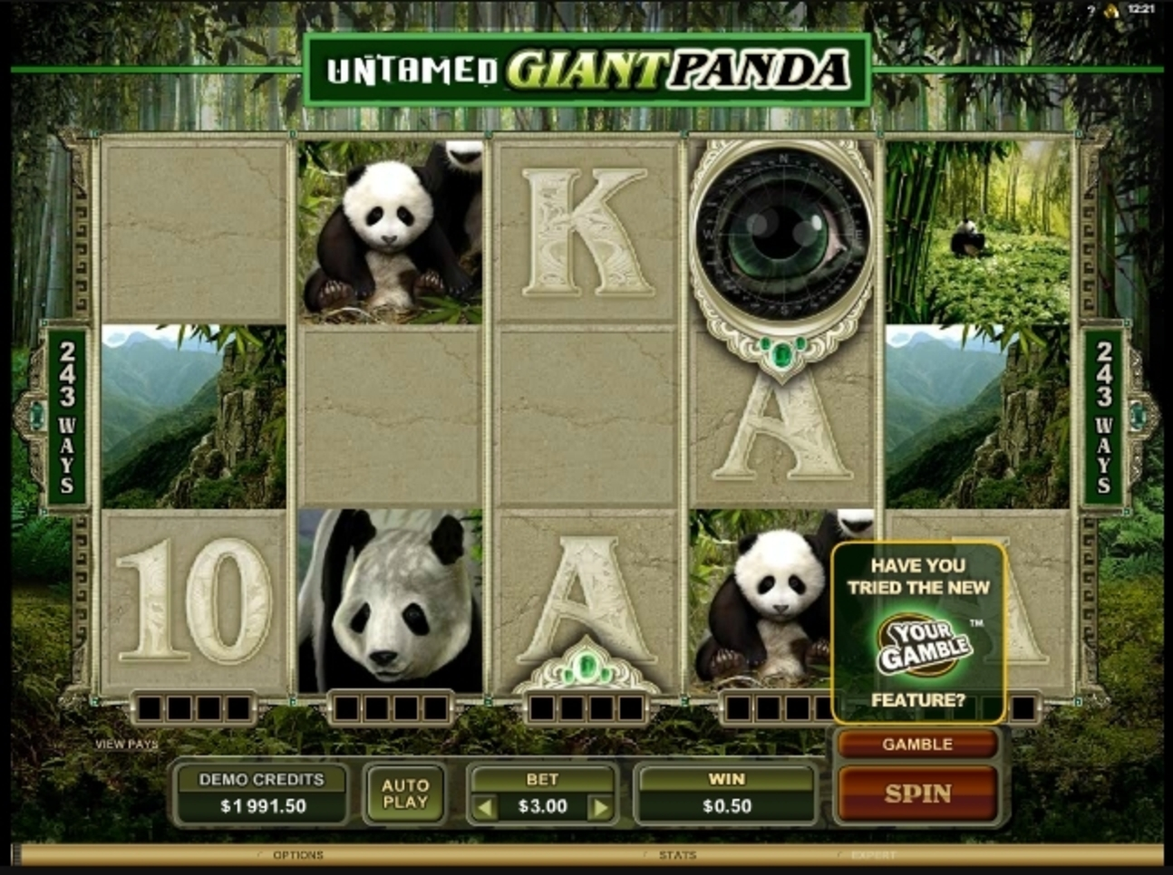 Win Money in Untamed Giant Panda Free Slot Game by Microgaming