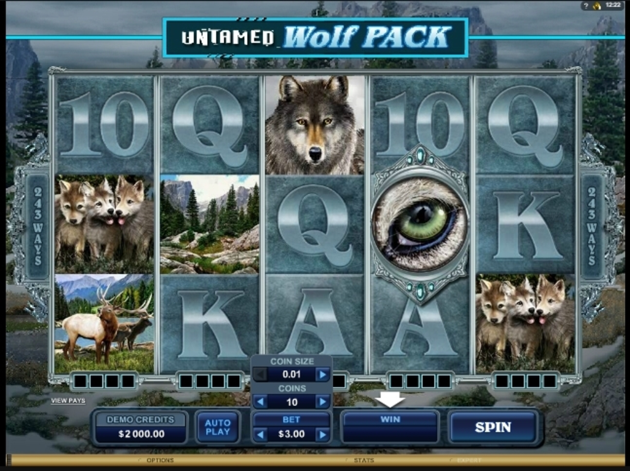 Reels in Untamed Wolf Pack Slot Game by Microgaming