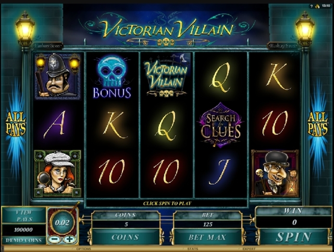 Reels in Victorian Villain Slot Game by Microgaming