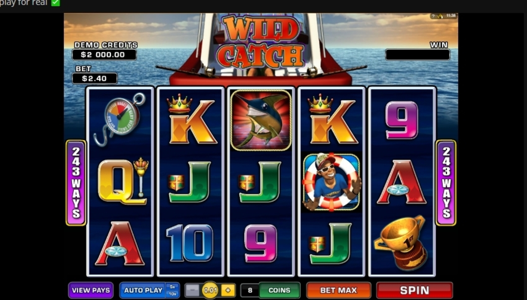 Reels in Wild Catch (Microgaming) Slot Game by Microgaming