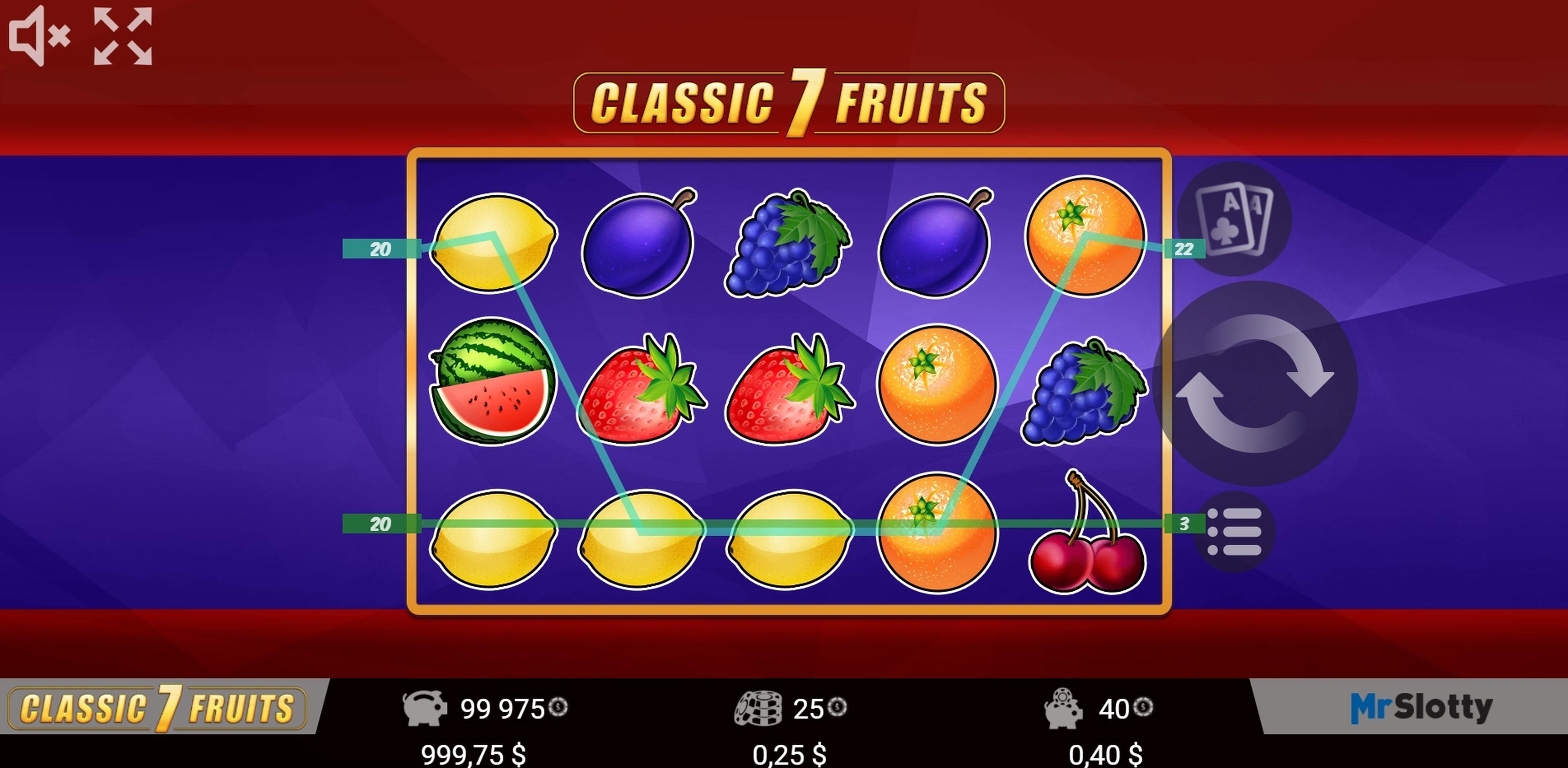 Classic 7 Fruits Slot Machine