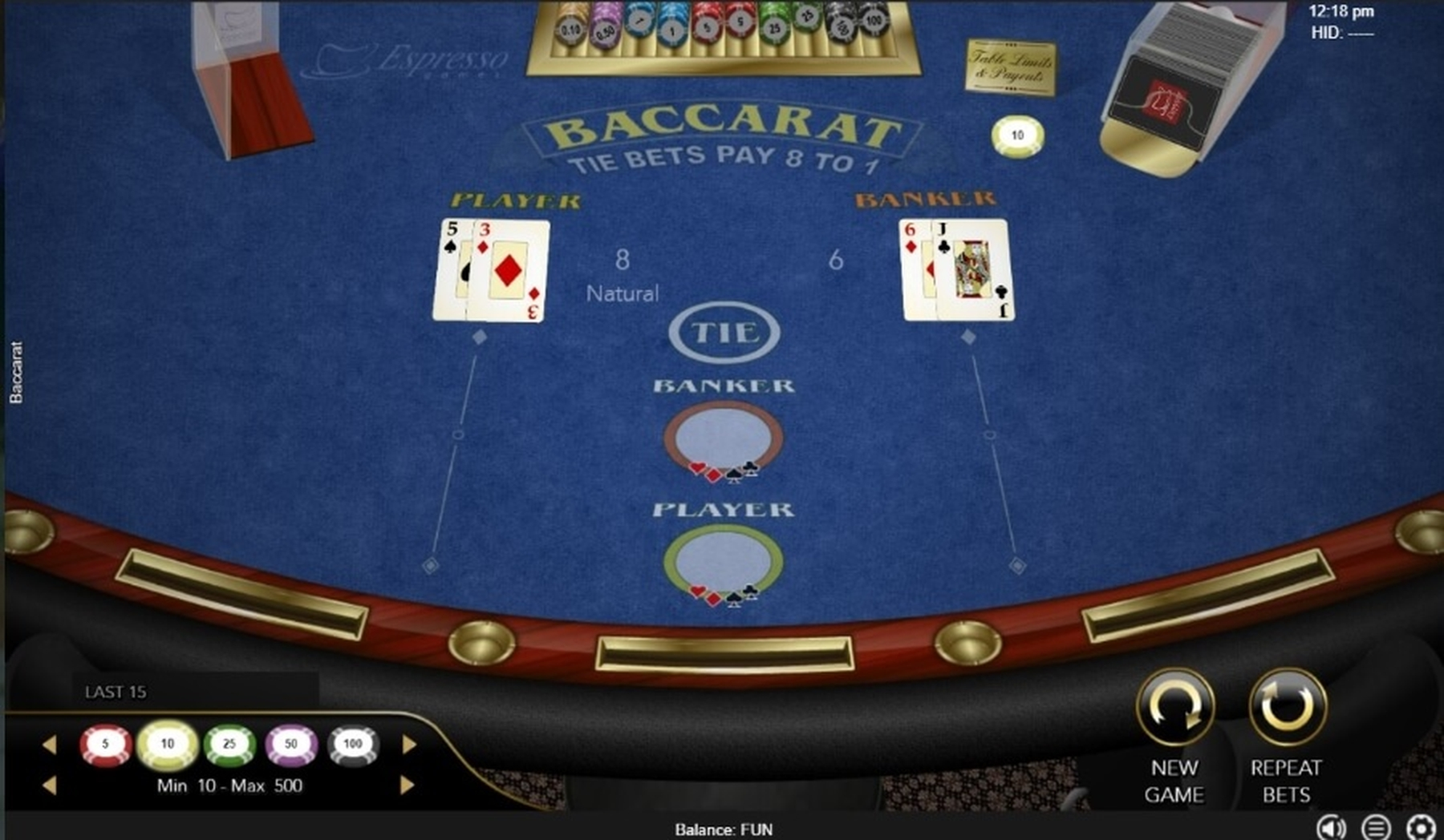 The Baccarat (MultiSlot) Online Slot Demo Game by Multislot