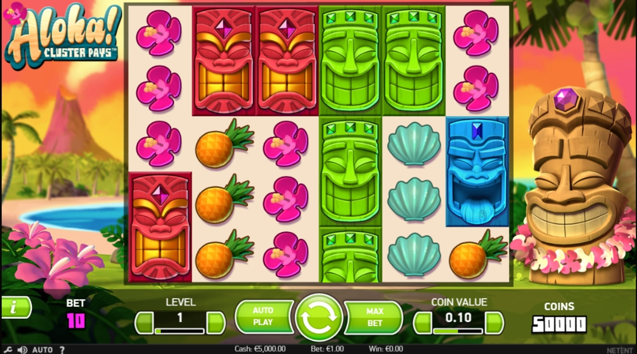 Reels in Aloha! Cluster Pays Slot Game by NetEnt