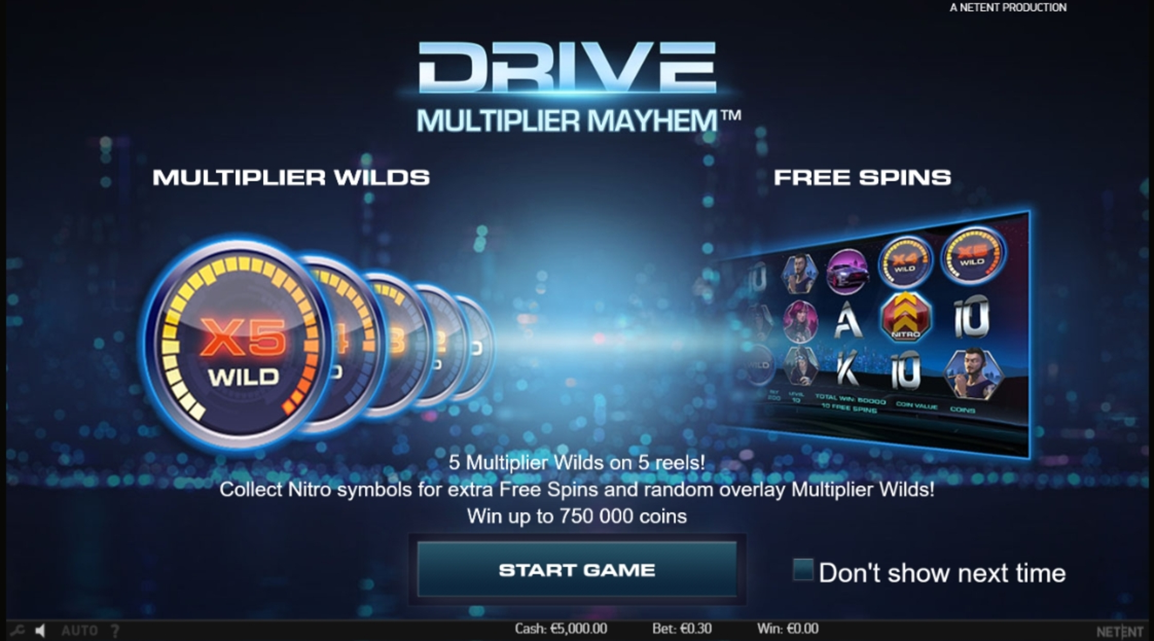 Play Drive Multiplier Mayhem Free Casino Slot Game by NetEnt