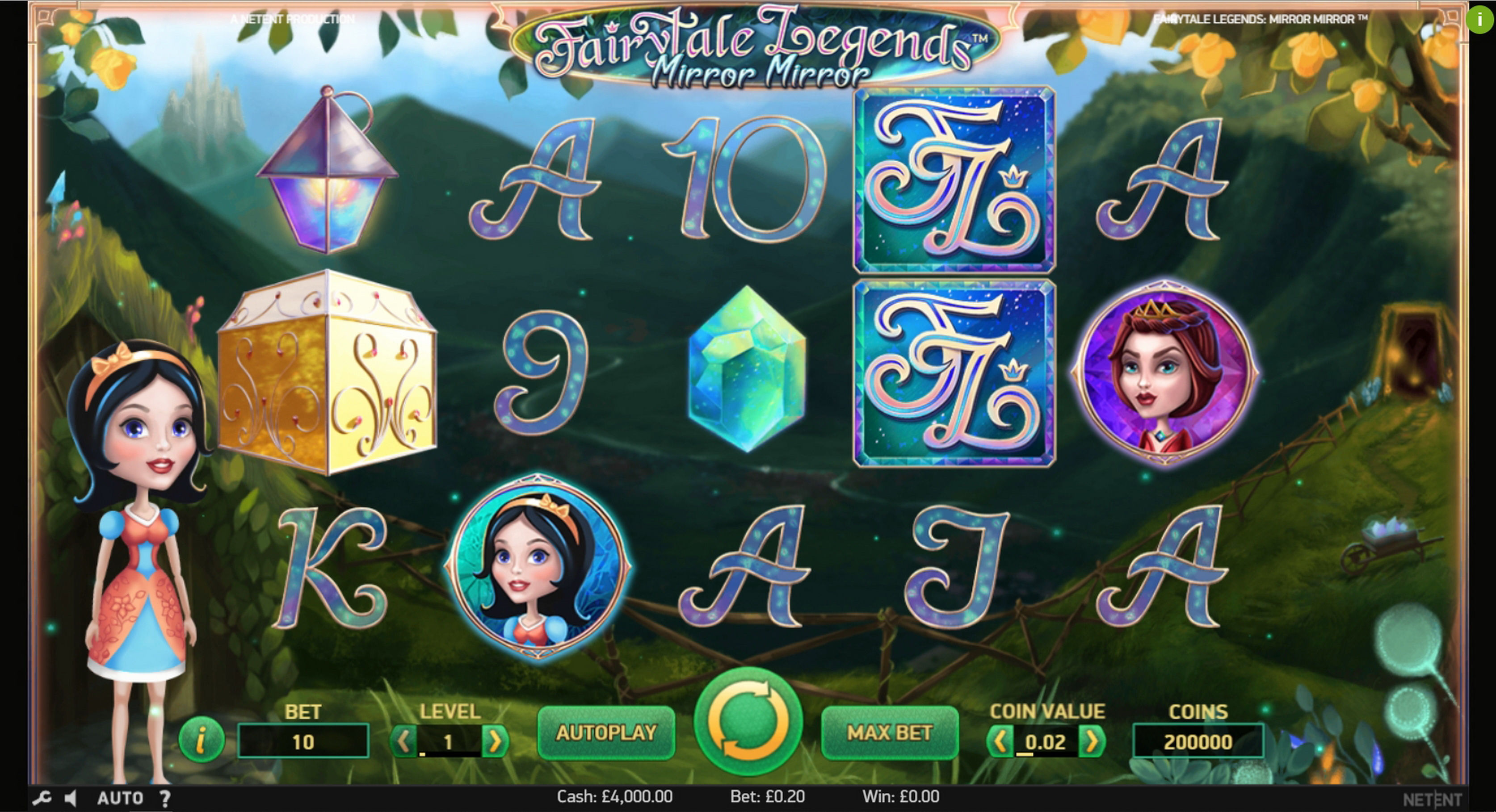 Reels in Fairytale Legends: Mirror Mirror (NetEnt) Slot Game by NetEnt