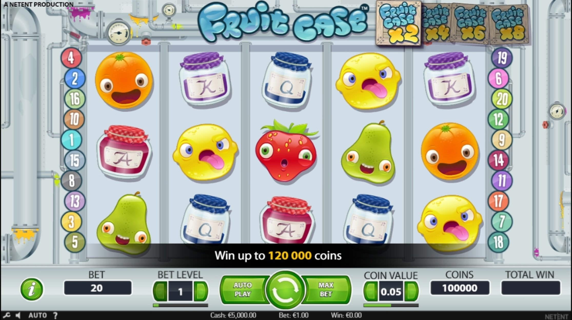 Reels in Fruit Case Slot Game by NetEnt