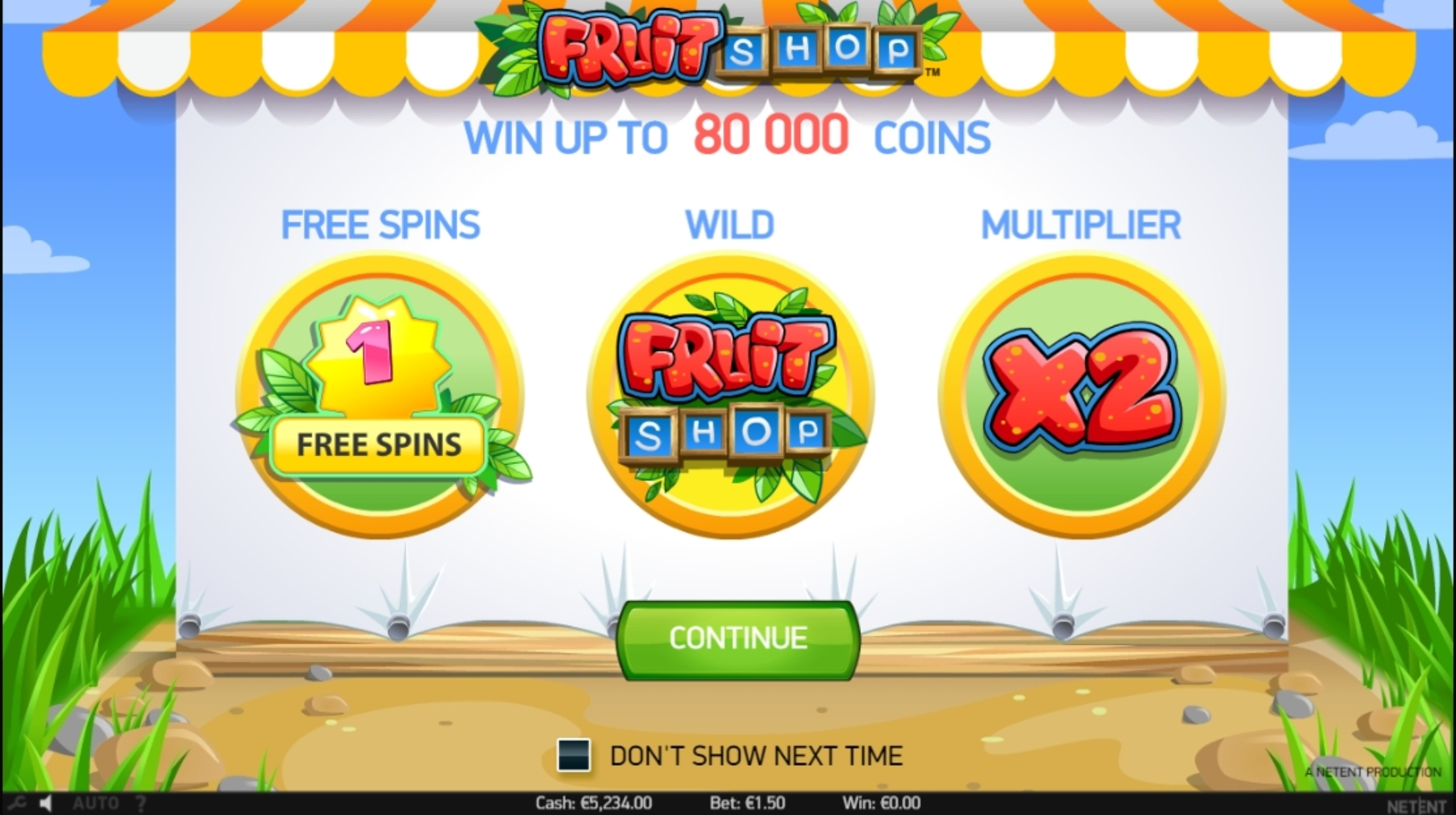Play Fruit Shop (NetEnt) Free Casino Slot Game by NetEnt