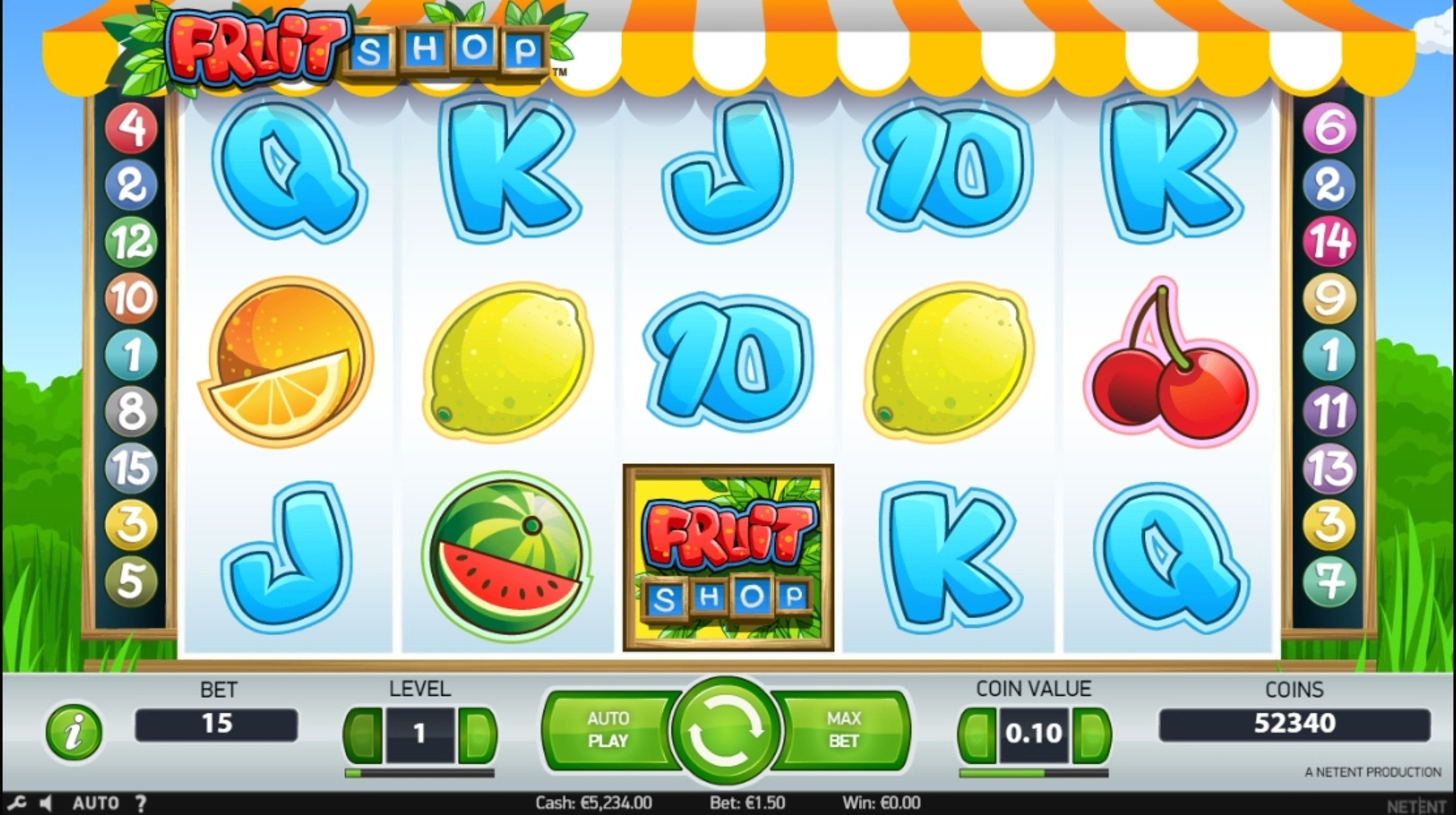Reels in Fruit Shop (NetEnt) Slot Game by NetEnt