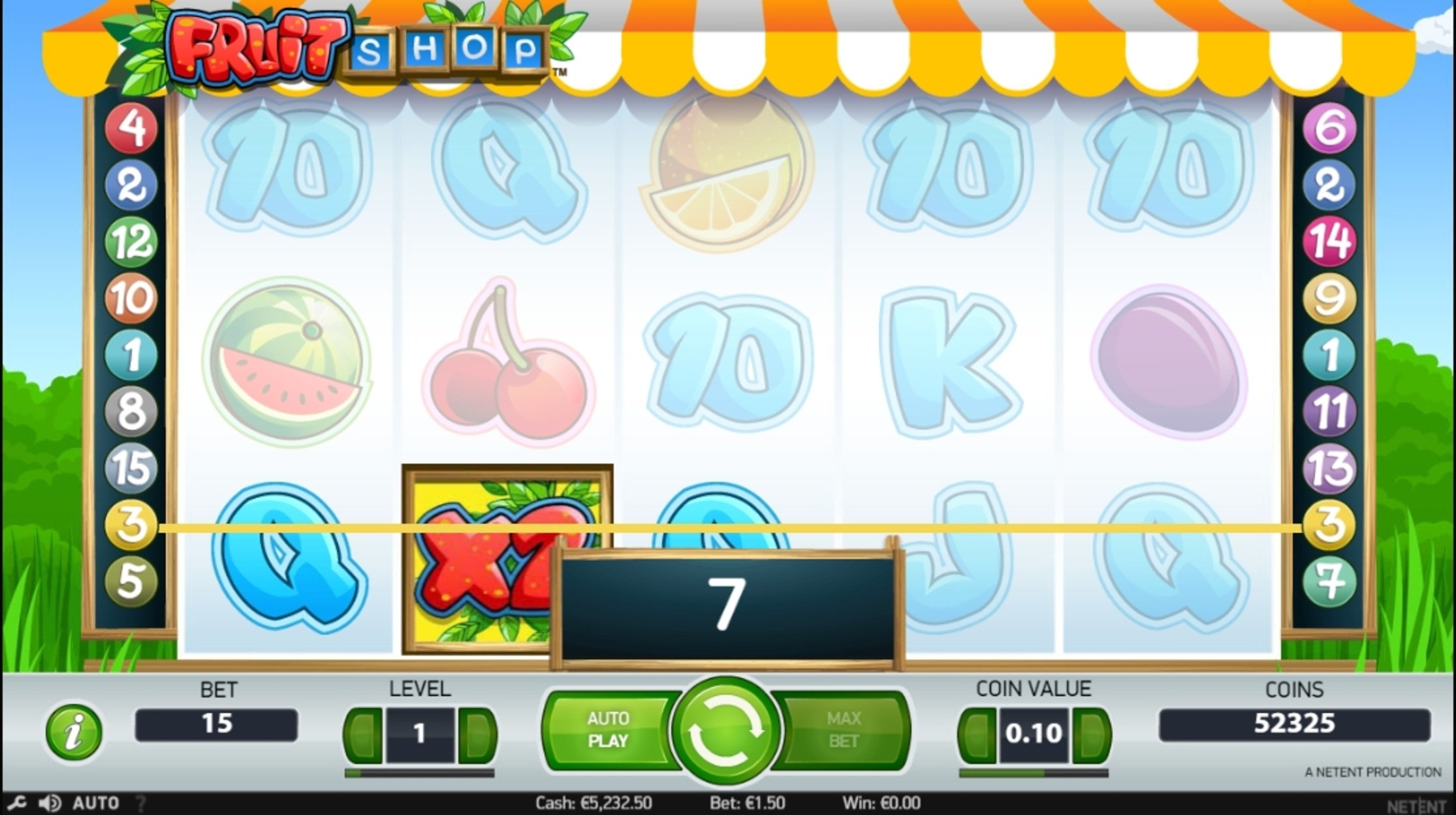 Win Money in Fruit Shop (NetEnt) Free Slot Game by NetEnt