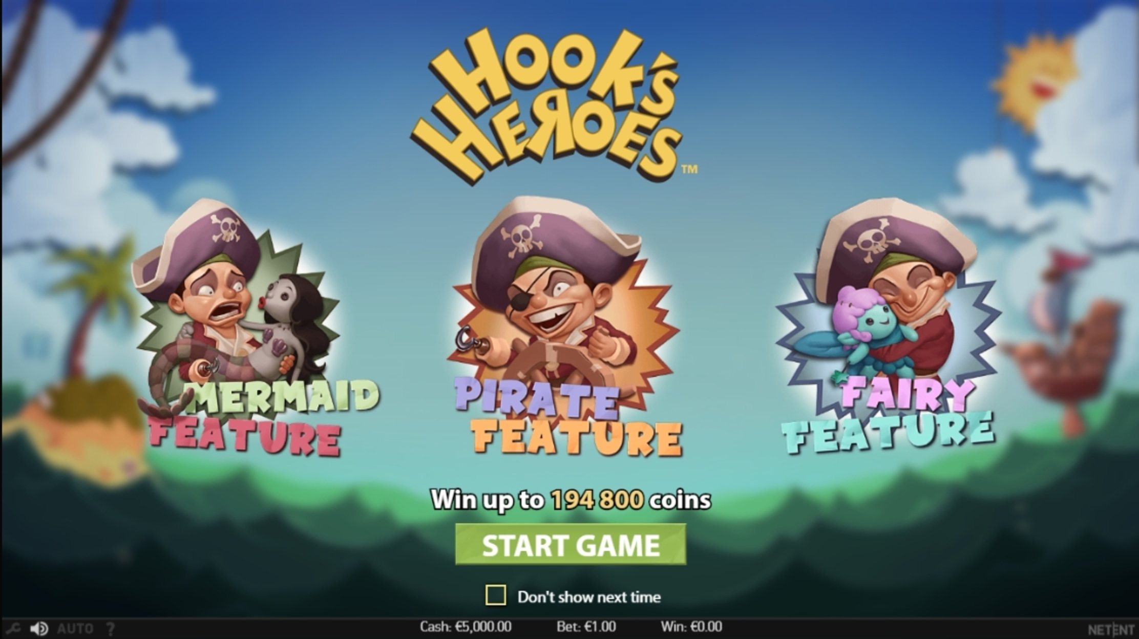 Play Hook's Heroes Free Casino Slot Game by NetEnt