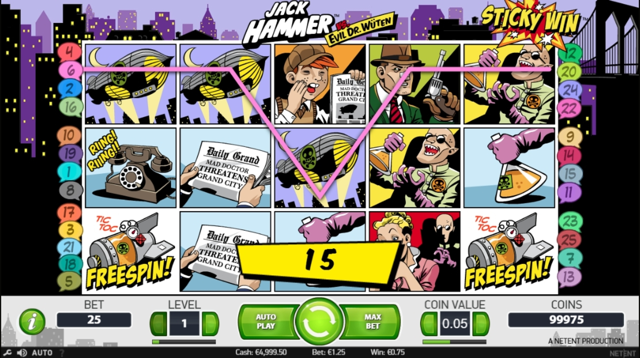 Win Money in Jack Hammer Free Slot Game by NetEnt