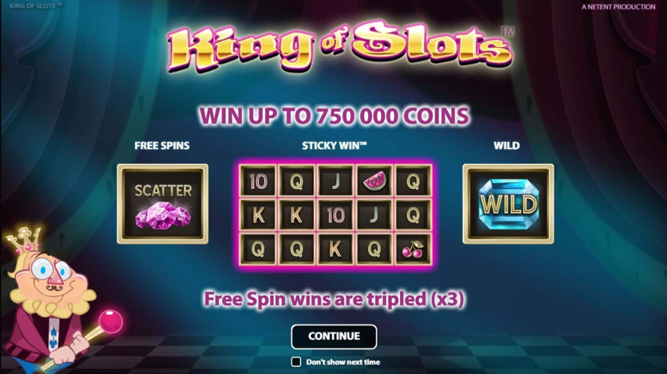 Play King of Slots Free Casino Slot Game by NetEnt
