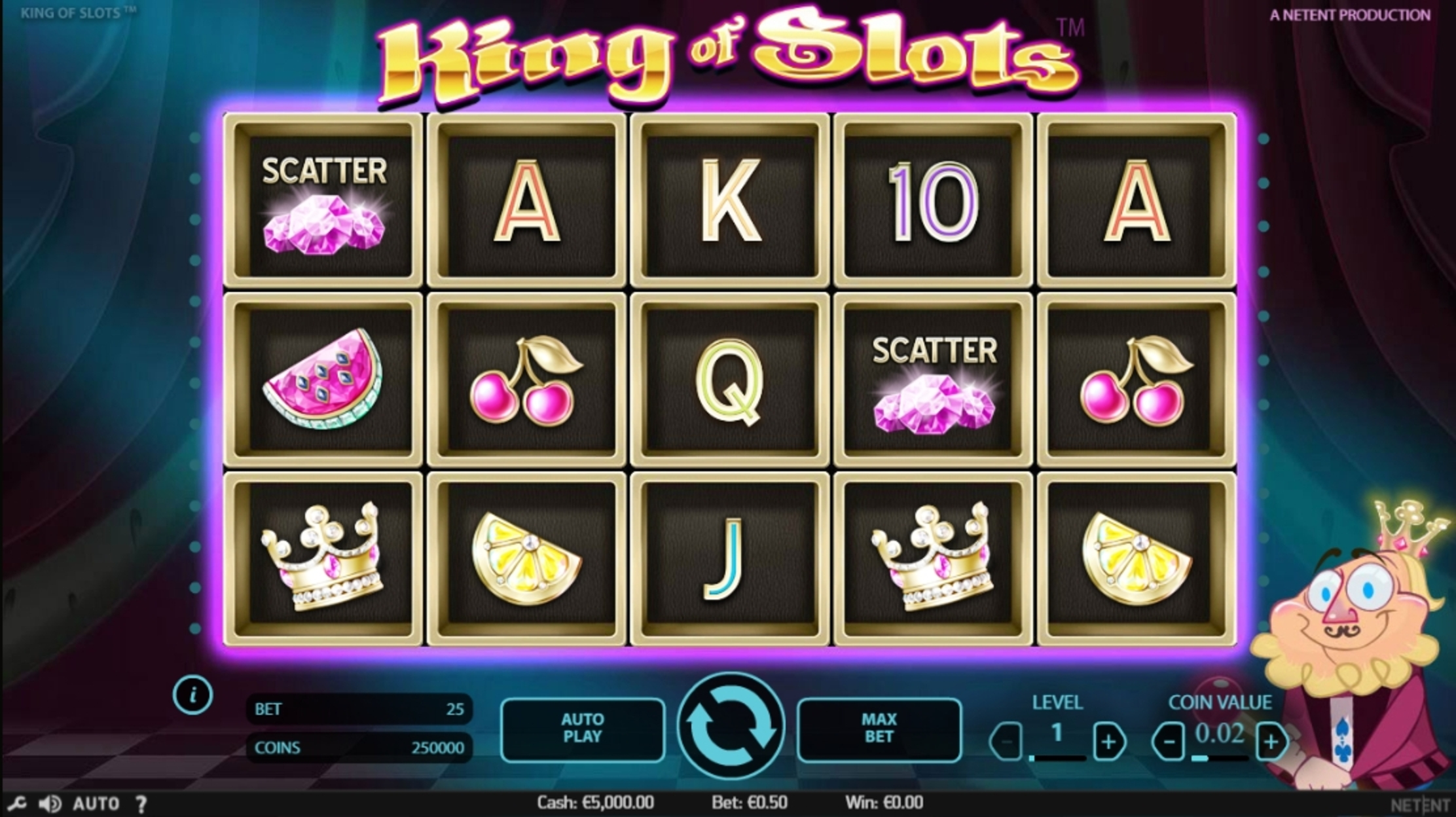 Reels in King of Slots Slot Game by NetEnt