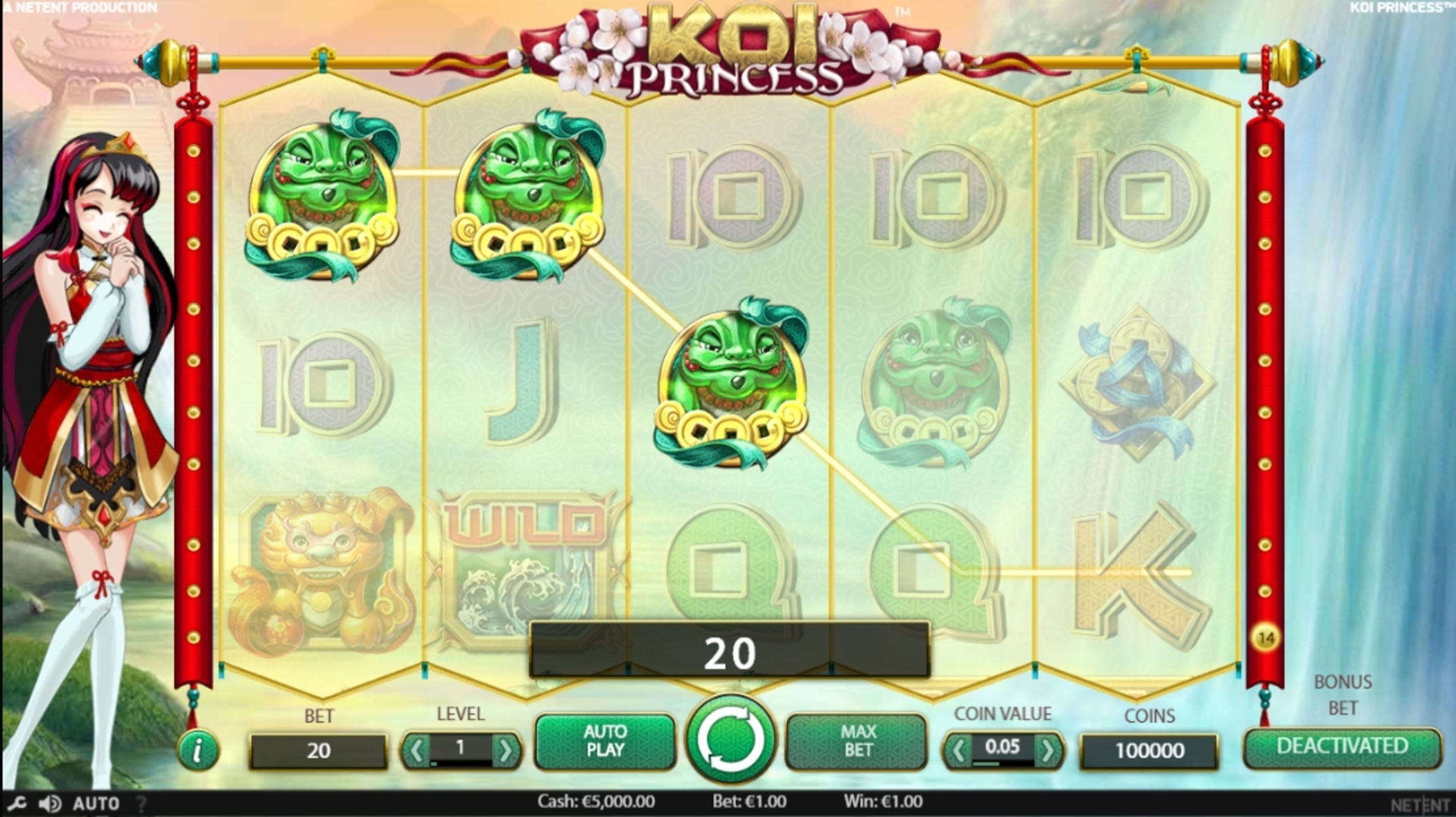 Win Money in Koi Princess Free Slot Game by NetEnt