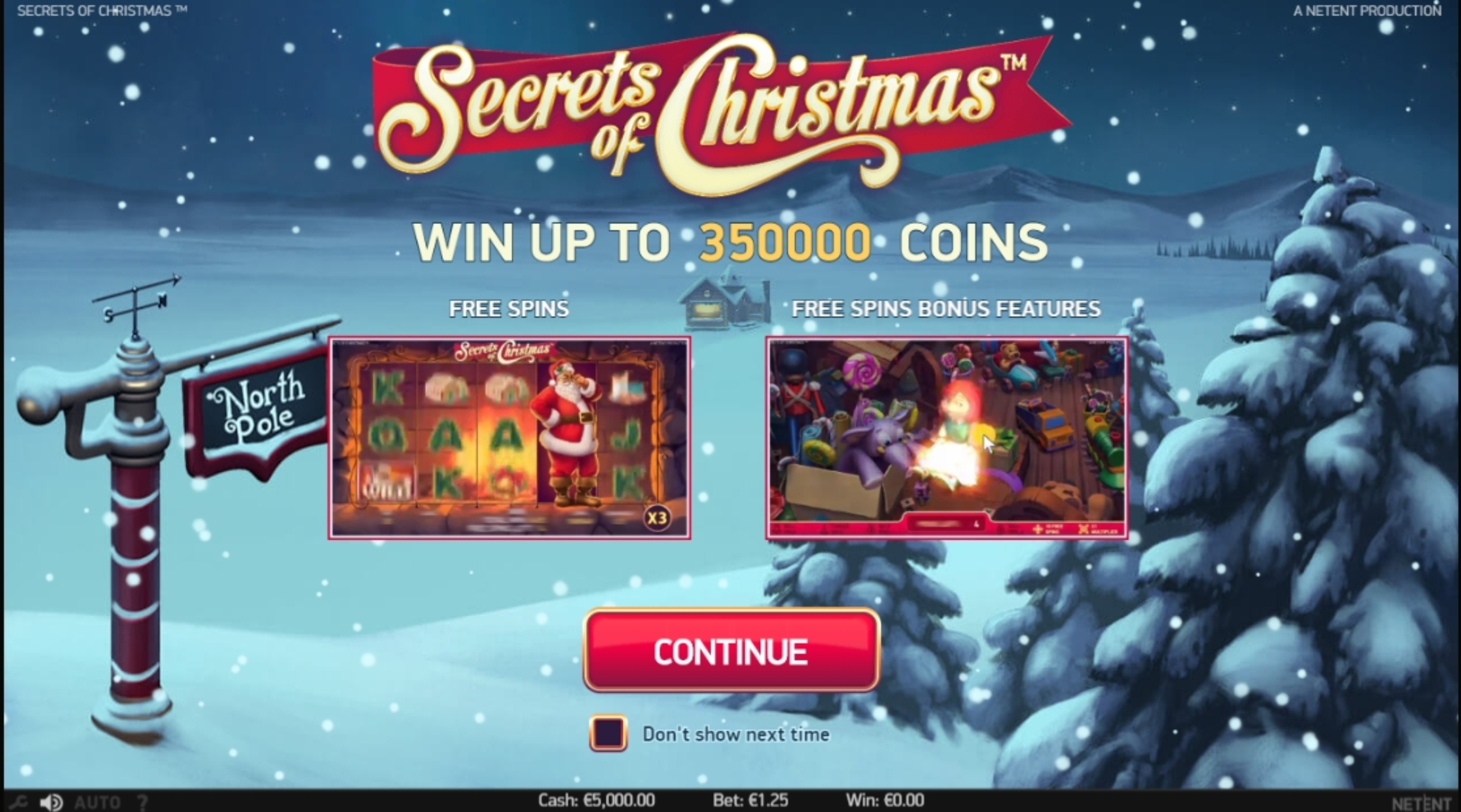 Play Secrets of Christmas Free Casino Slot Game by NetEnt