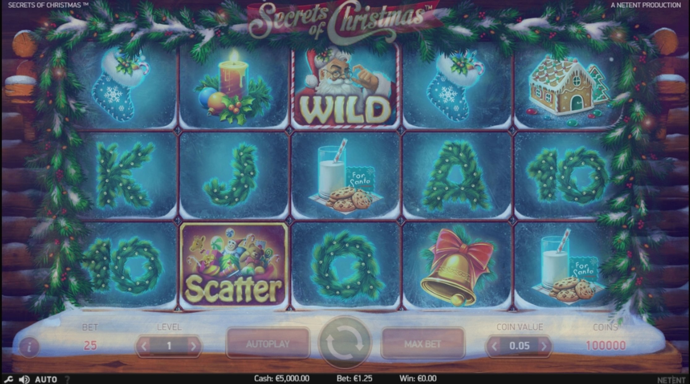 Reels in Secrets of Christmas Slot Game by NetEnt