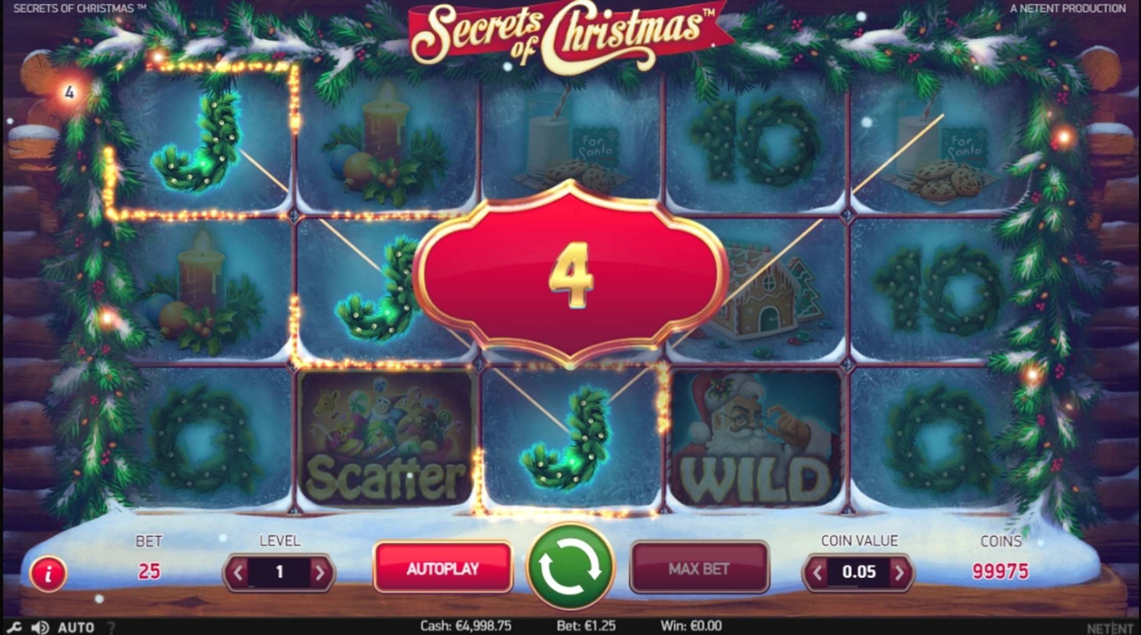 Win Money in Secrets of Christmas Free Slot Game by NetEnt