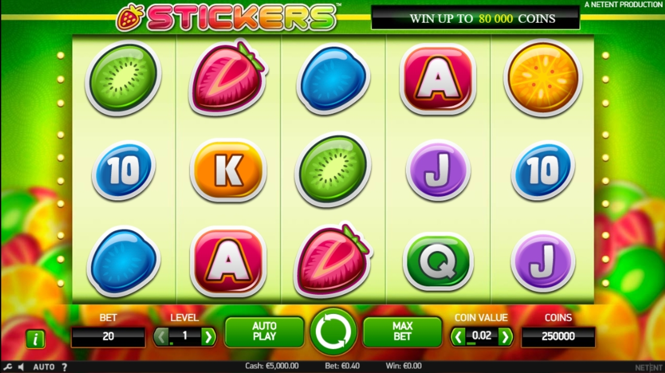 Reels in Stickers Slot Game by NetEnt