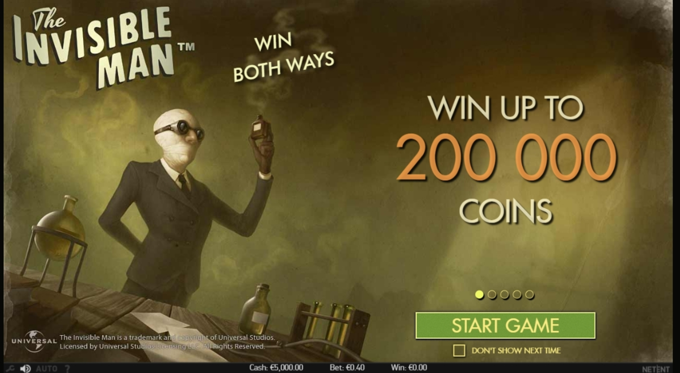 Play The Invisible Man Free Casino Slot Game by NetEnt