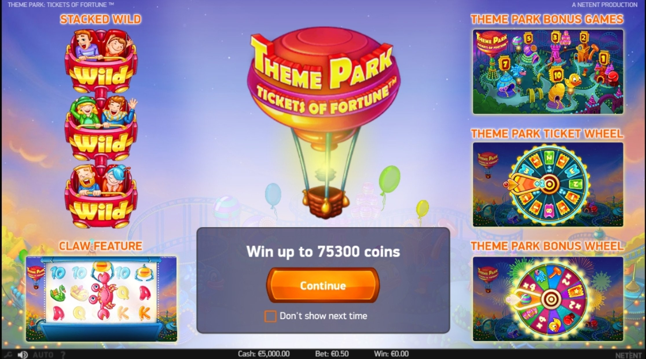 Play Theme Park: Tickets of Fortune Free Casino Slot Game by NetEnt