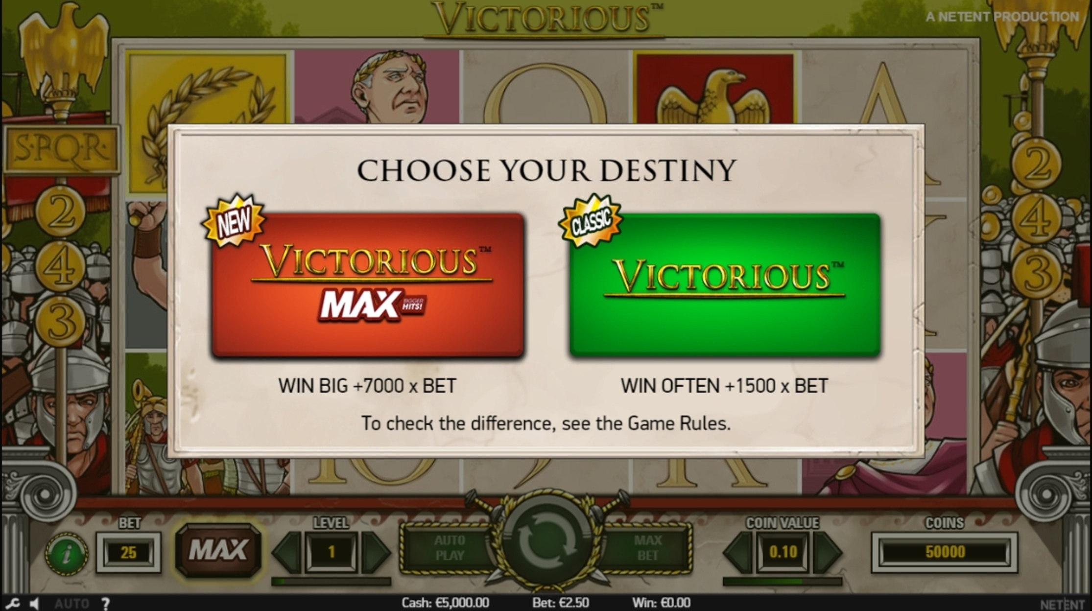 Play Victorious Free Casino Slot Game by NetEnt