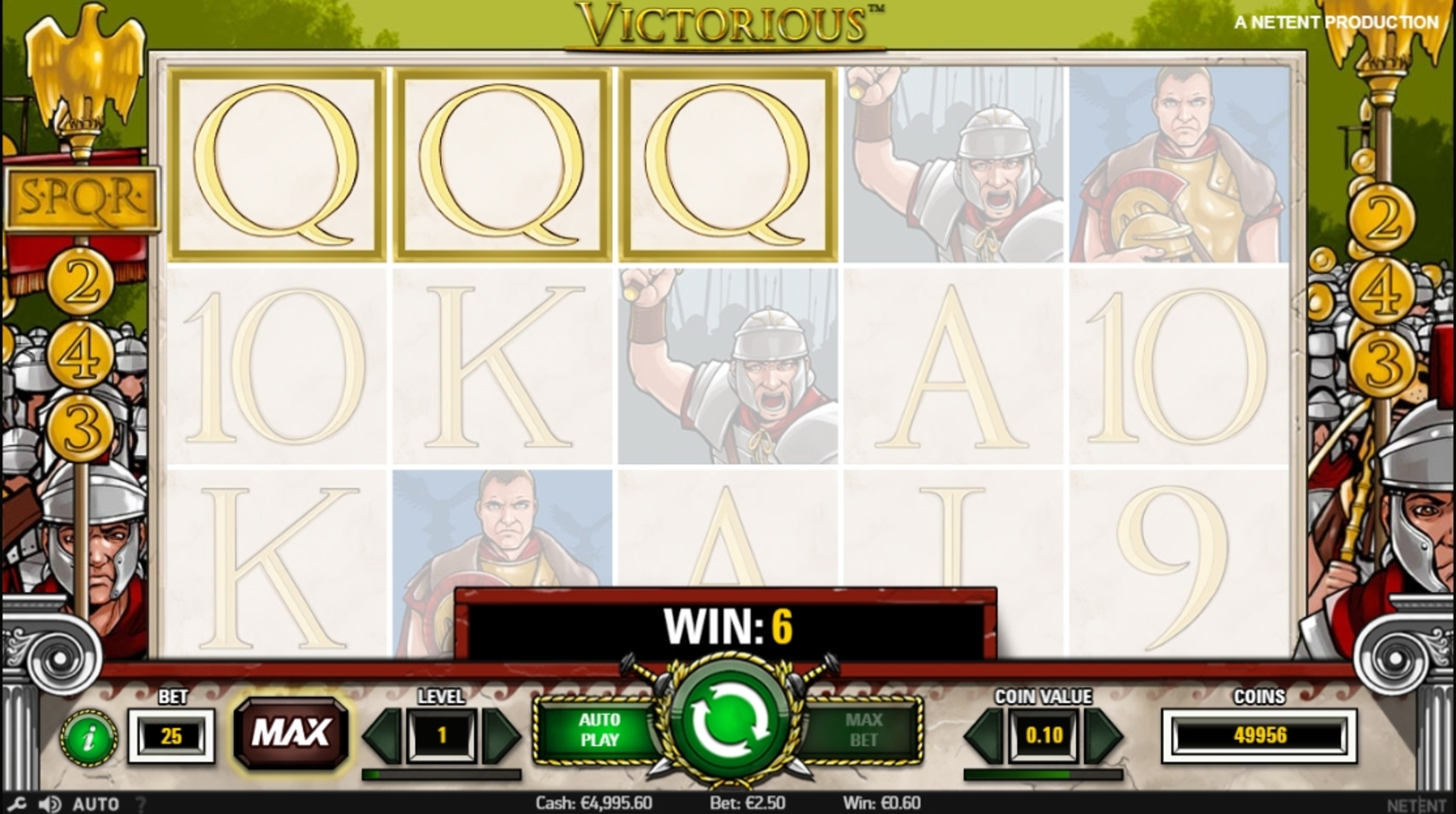 Win Money in Victorious Free Slot Game by NetEnt