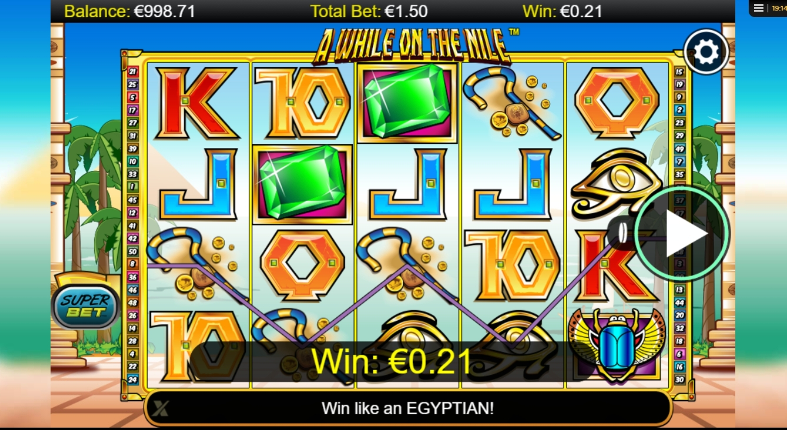 Play Gods of the Nile II Slot Machine Free with No Download