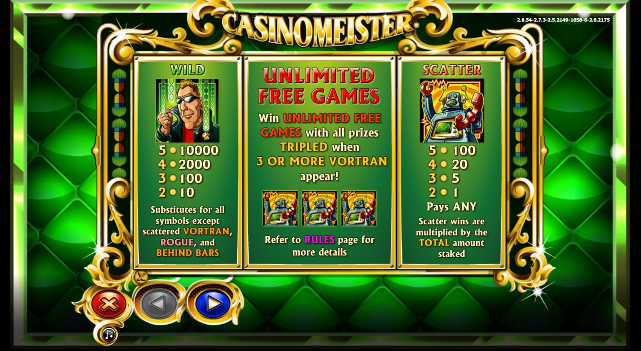 Info of Casinomeister Slot Game by NextGen Gaming