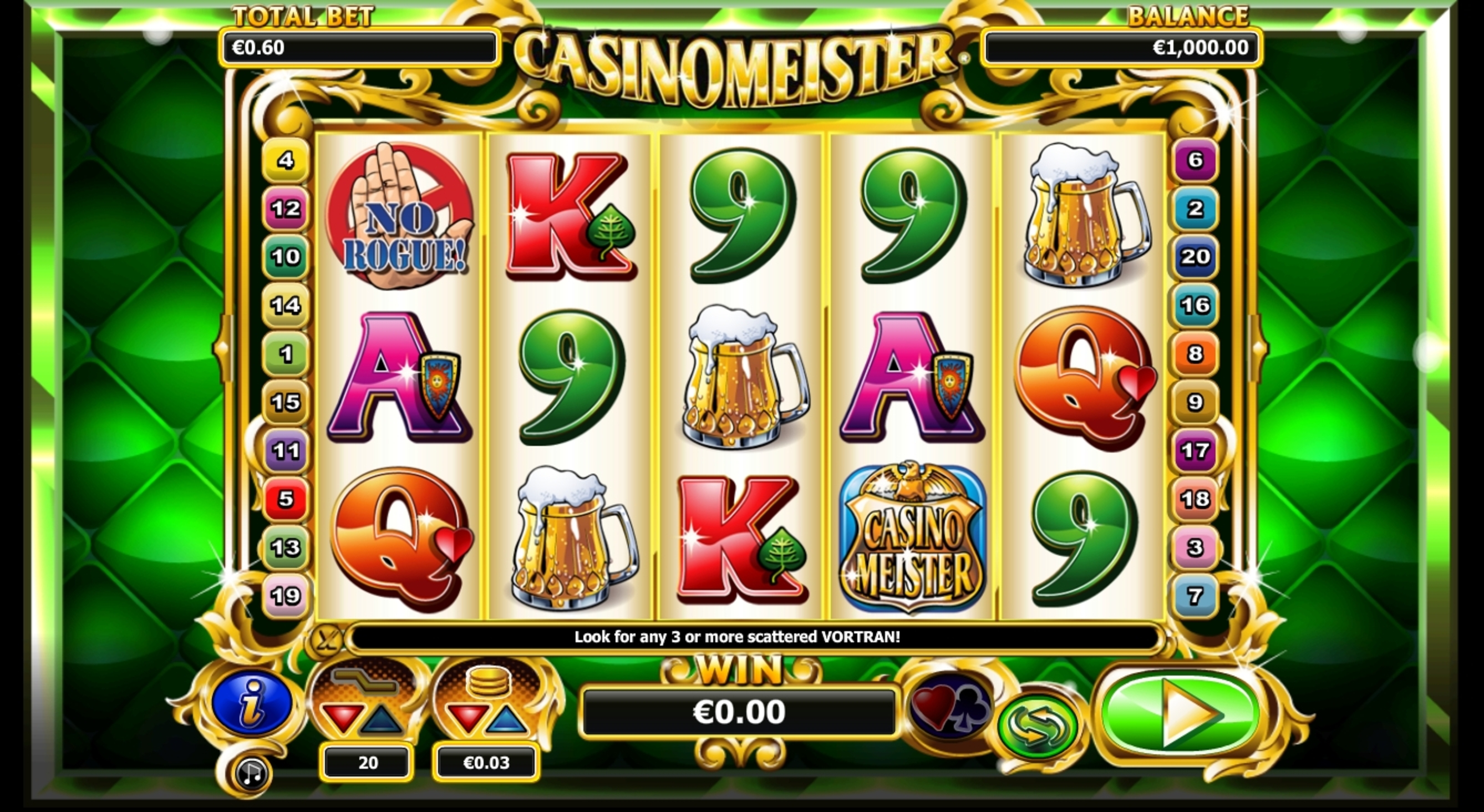 Reels in Casinomeister Slot Game by NextGen Gaming