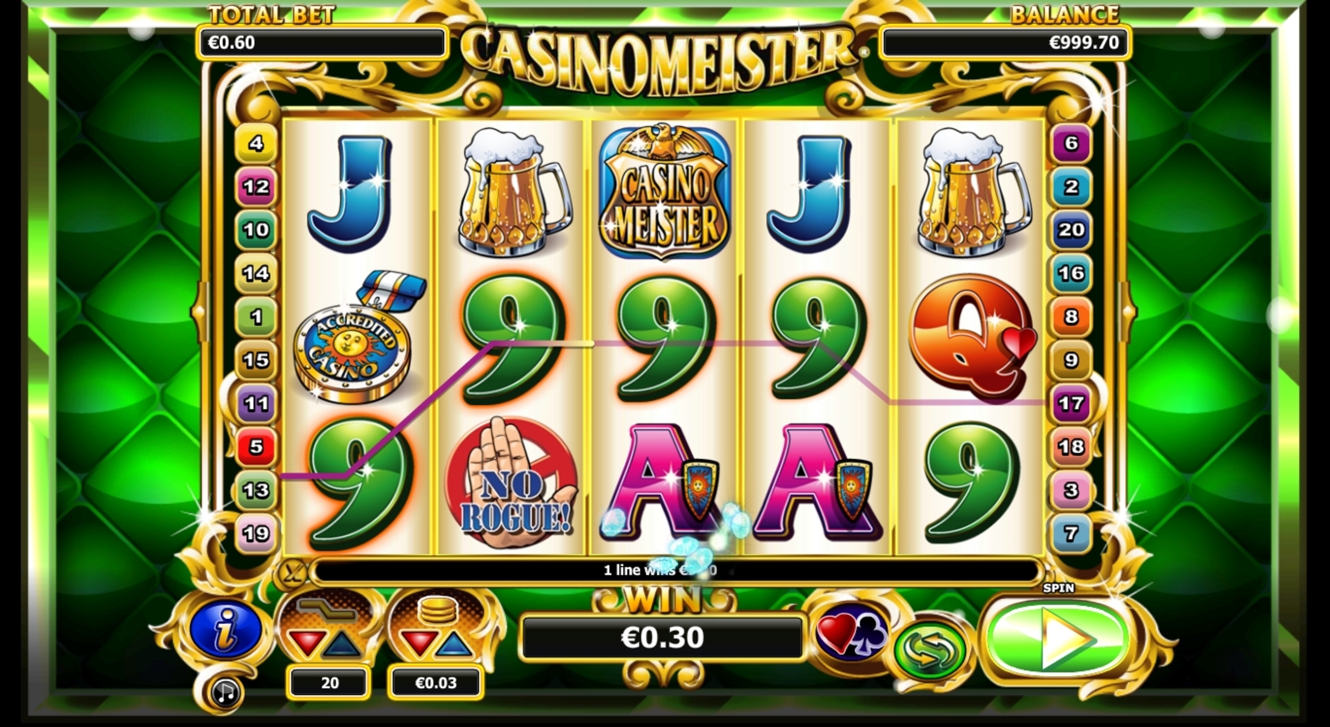 Win Money in Casinomeister Free Slot Game by NextGen Gaming