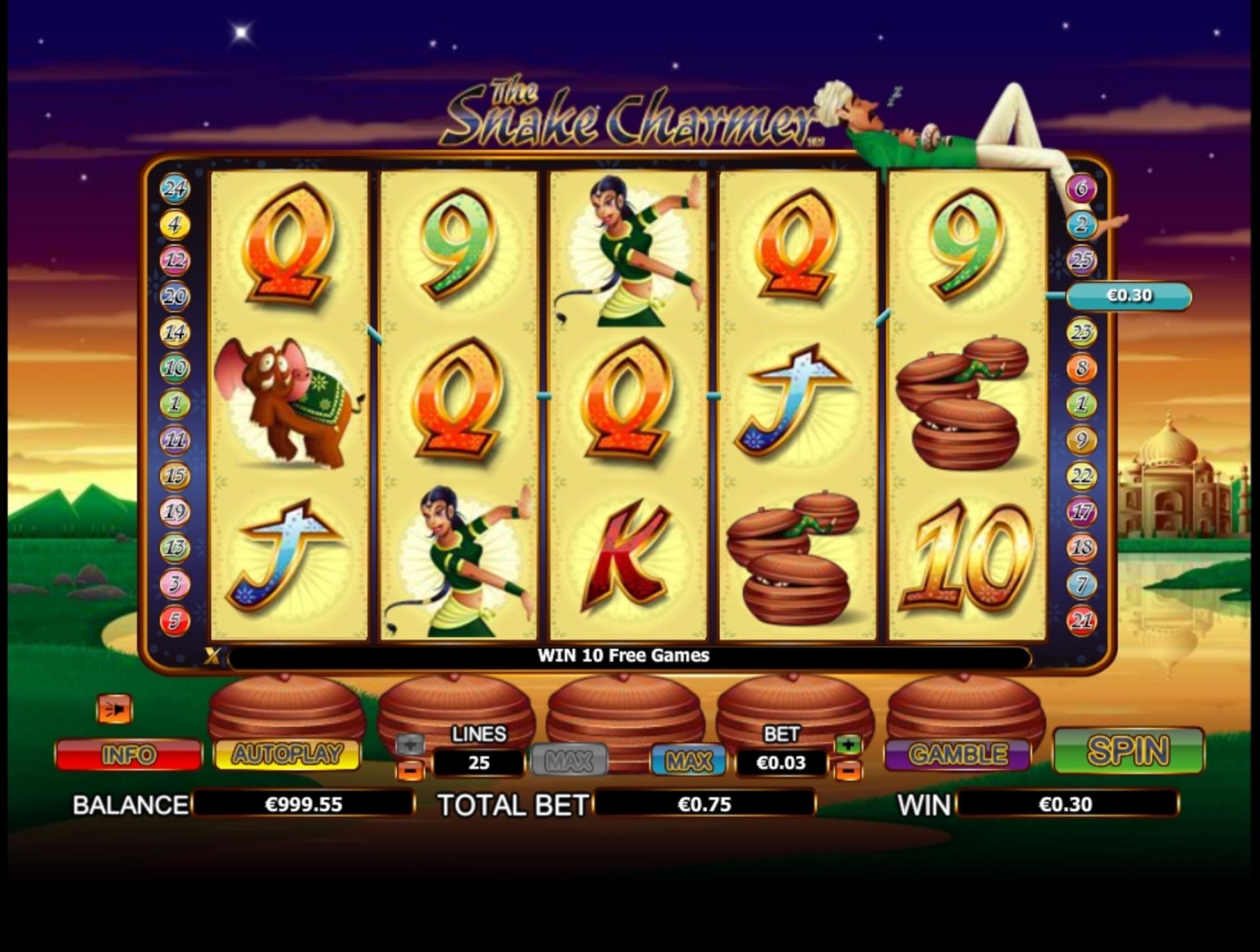 The Snake Charmer Slot Machine