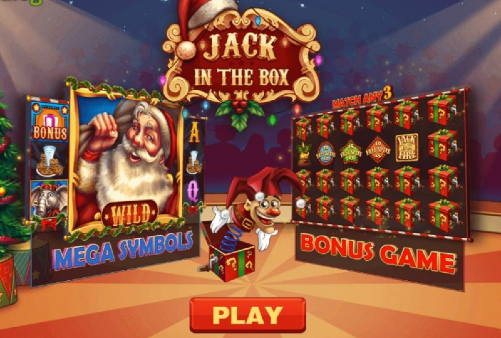 Jack in the Box Christmas Edition Online Slot Demo Game by PariPlay