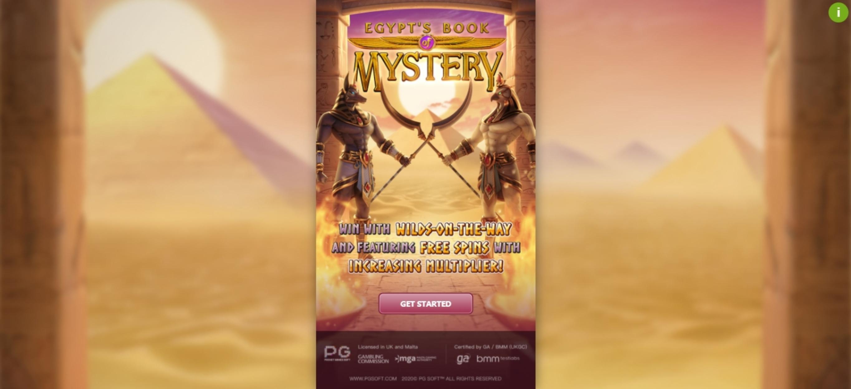 Egypts Book Of Mystery Demo Play Slot Machine Online By Pg Soft Review Casinosanalyzer Com