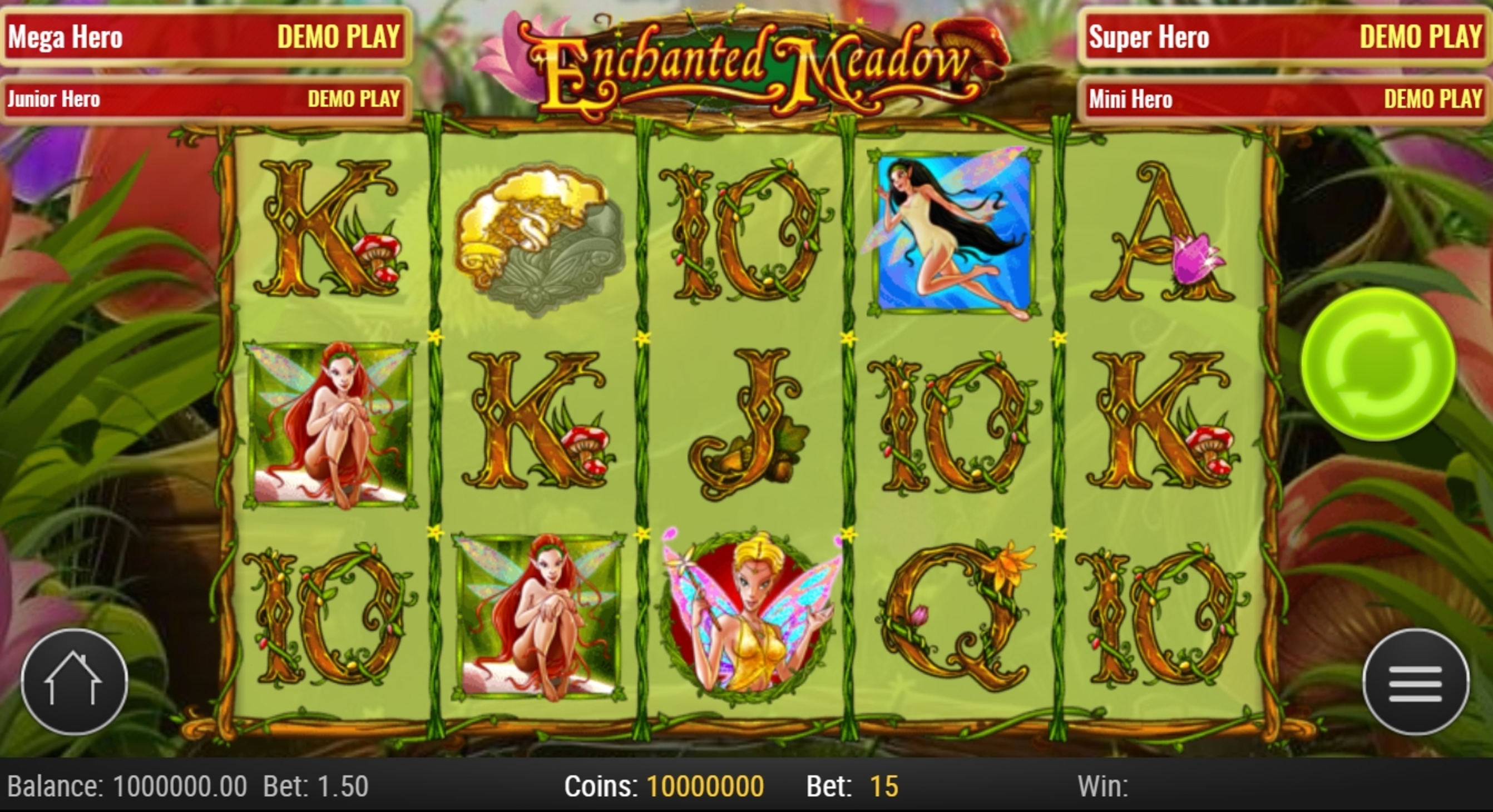 Reels in Enchanted Meadow Slot Game by Playn GO