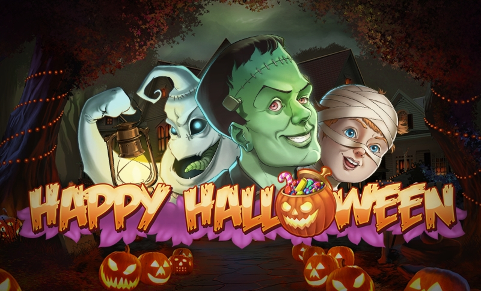 Happy Halloween Online Slot Demo Game by Playn GO
