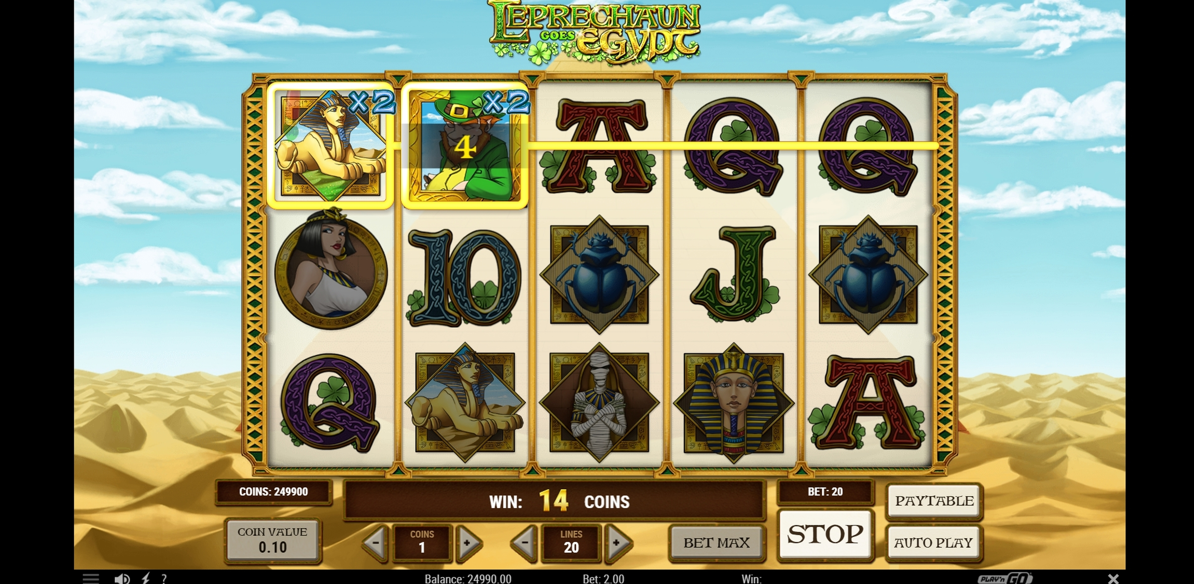 Leprechaun Goes Egypt Slot Machine Online By Play N Go Review Free Demo Play Casinosanalyzer Com