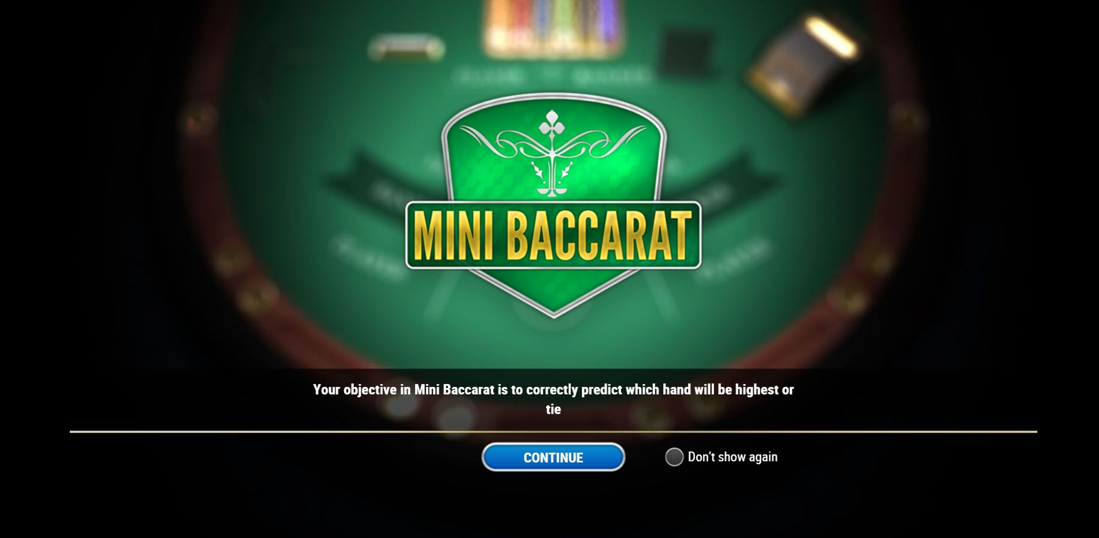 Play Mini Baccarat (Play'n Go) Free Casino Slot Game by Playn GO