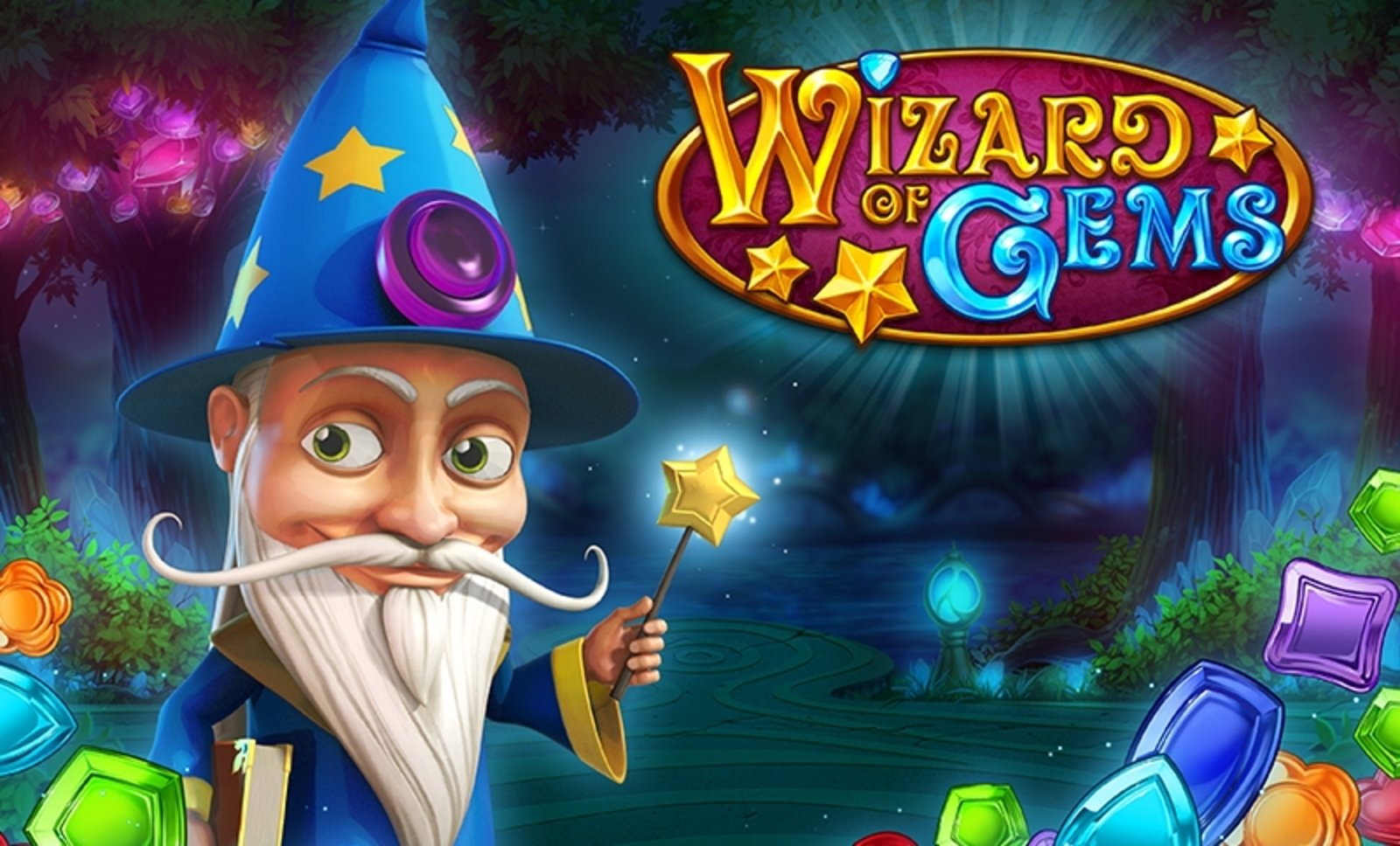Wizard of Gems Online Slot Demo Game by Playn GO