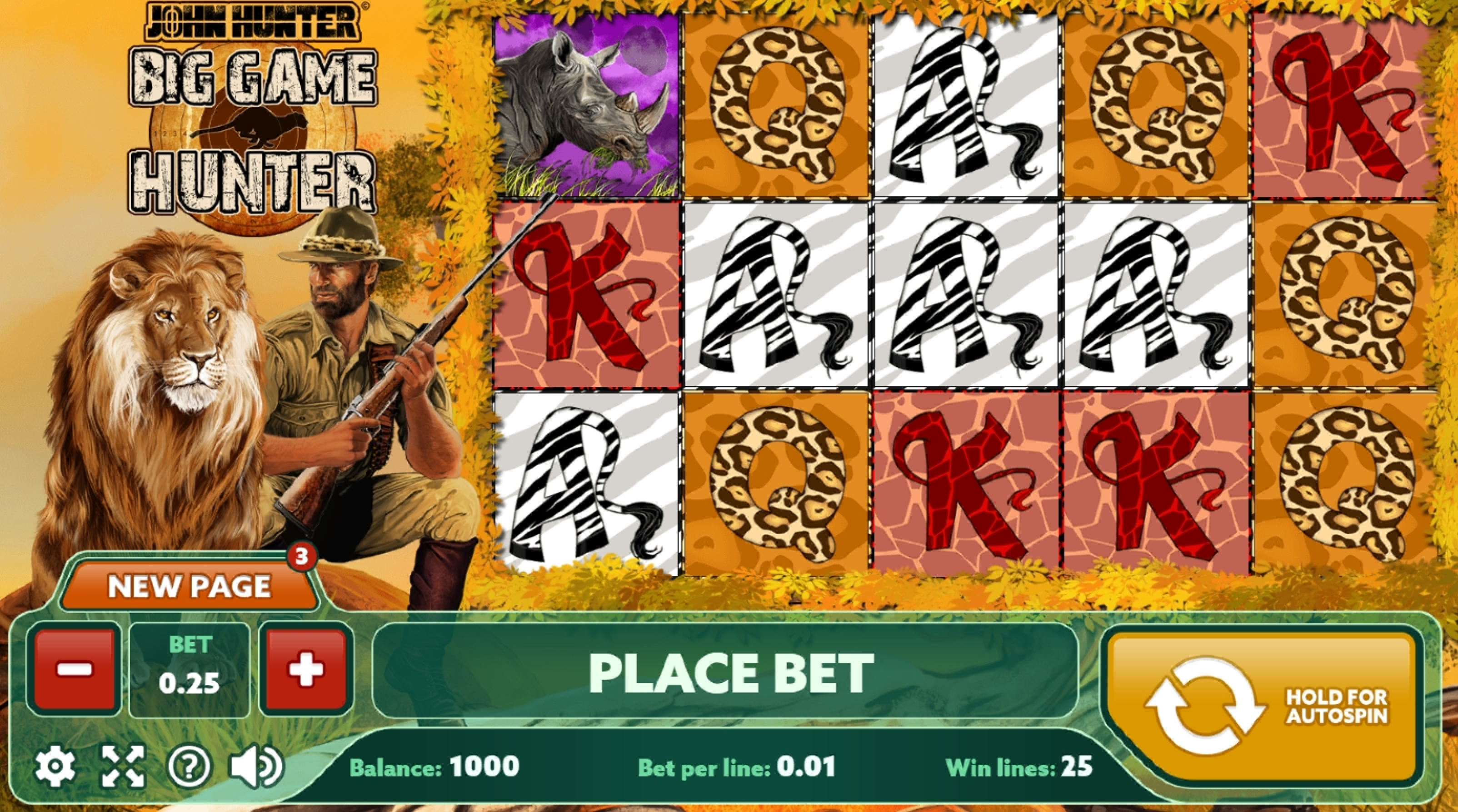 Reels in Big Game Hunter Slot Game by PlayPearls