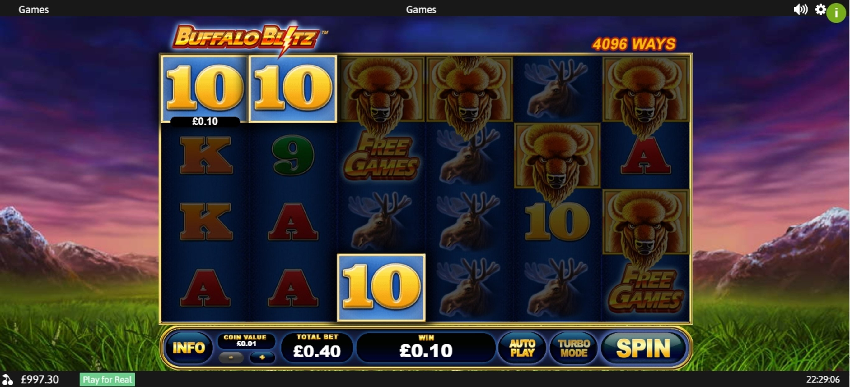 Win Money in Buffalo Blitz Free Slot Game by Playtech