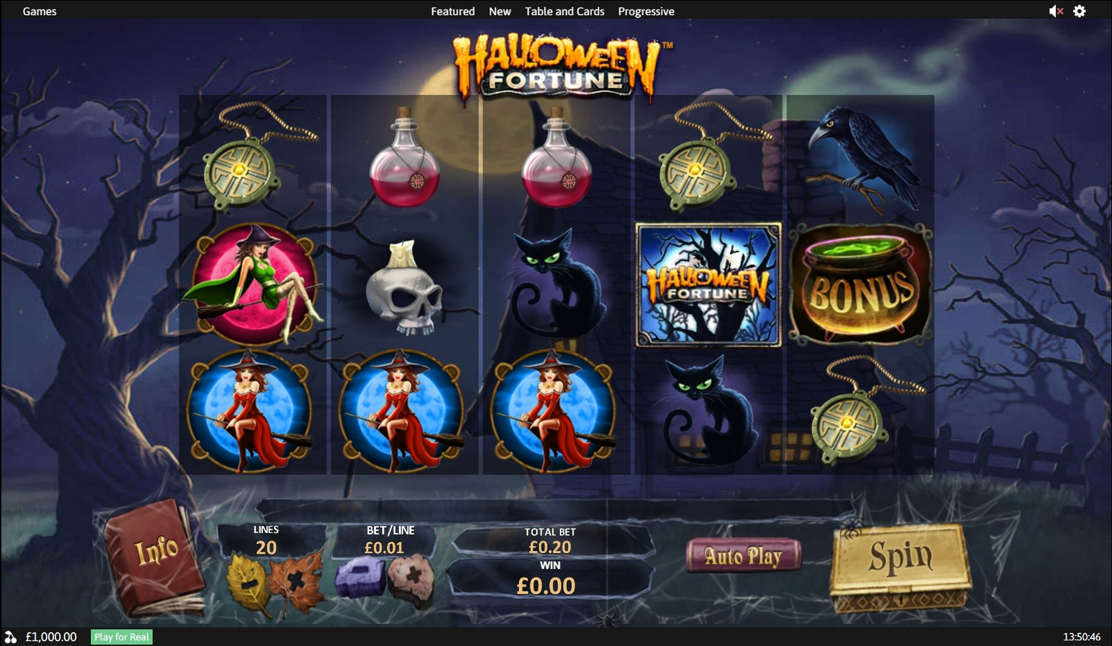 Reels in Halloween Fortune Slot Game by Playtech