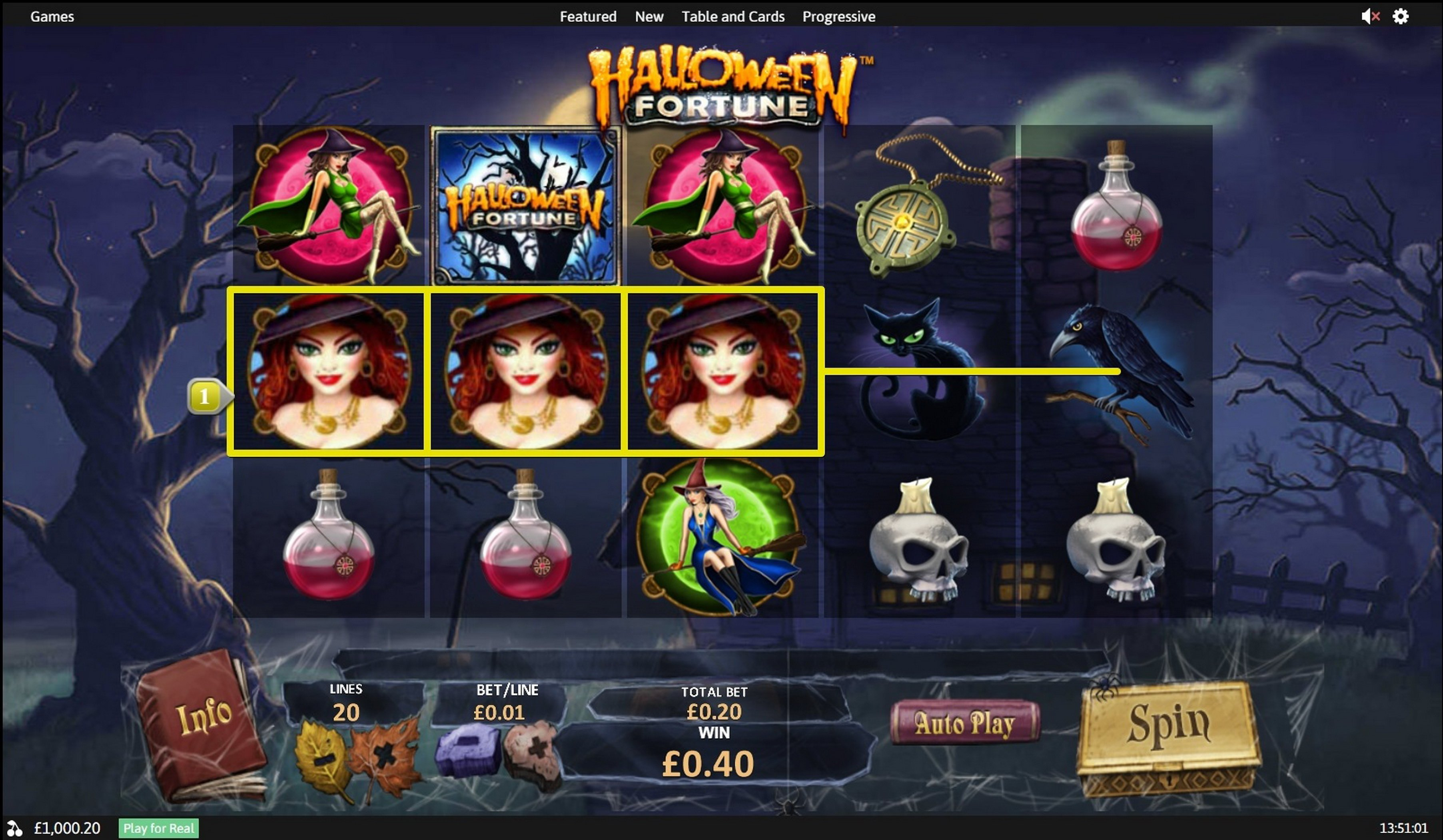 Win Money in Halloween Fortune Free Slot Game by Playtech