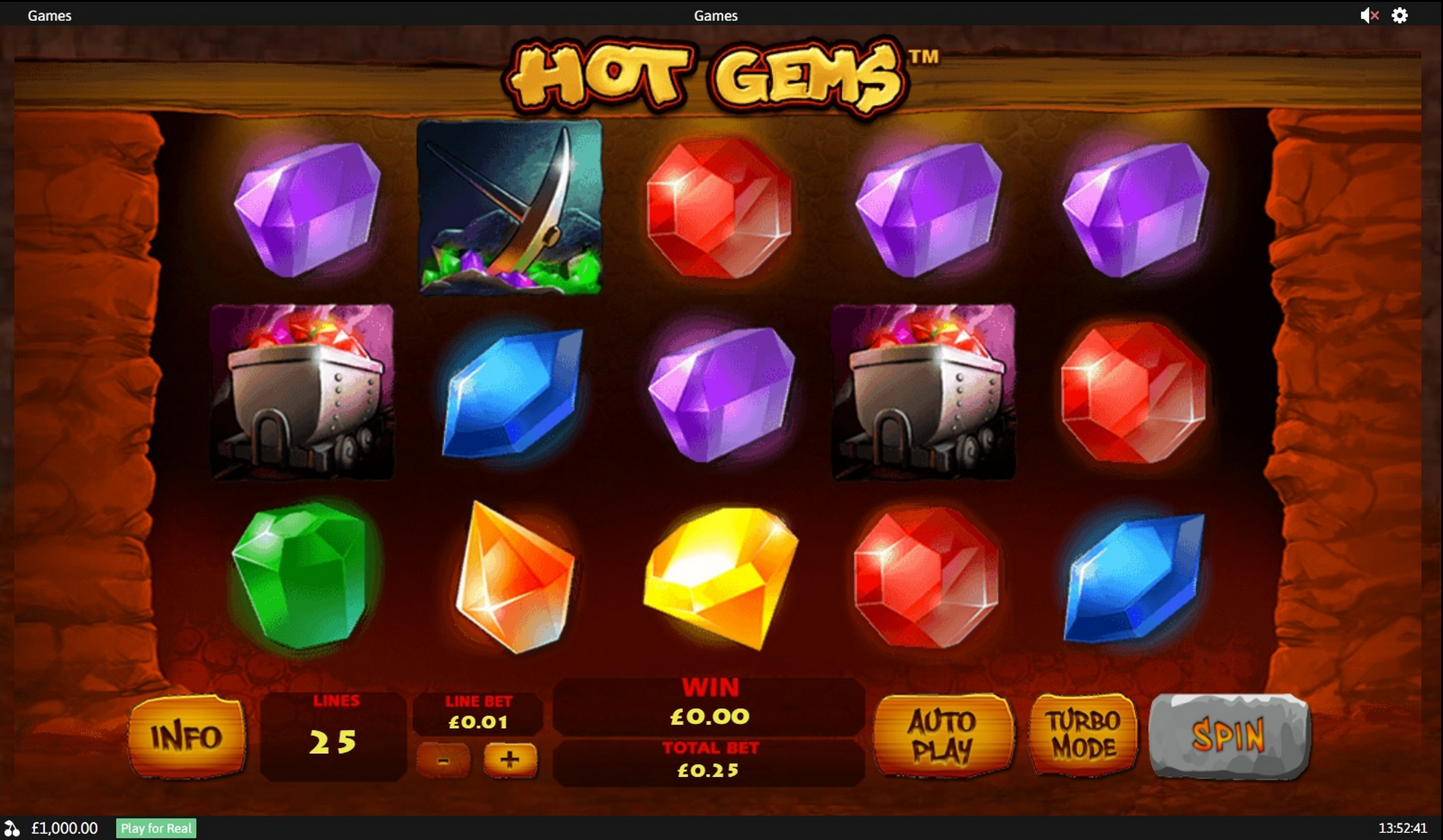 Reels in Hot Gems Slot Game by Playtech