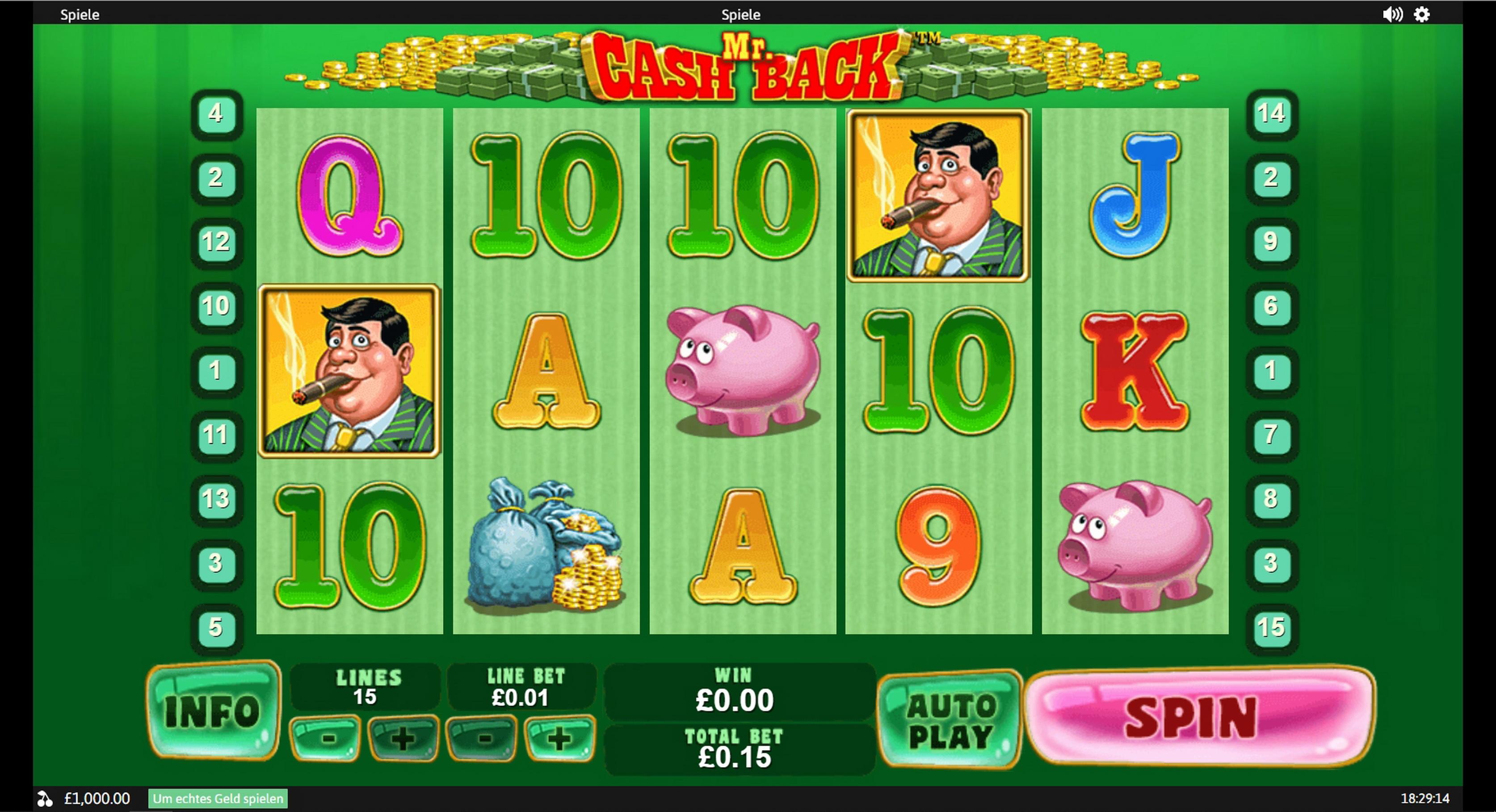 Mr. Cashback Slot Machine